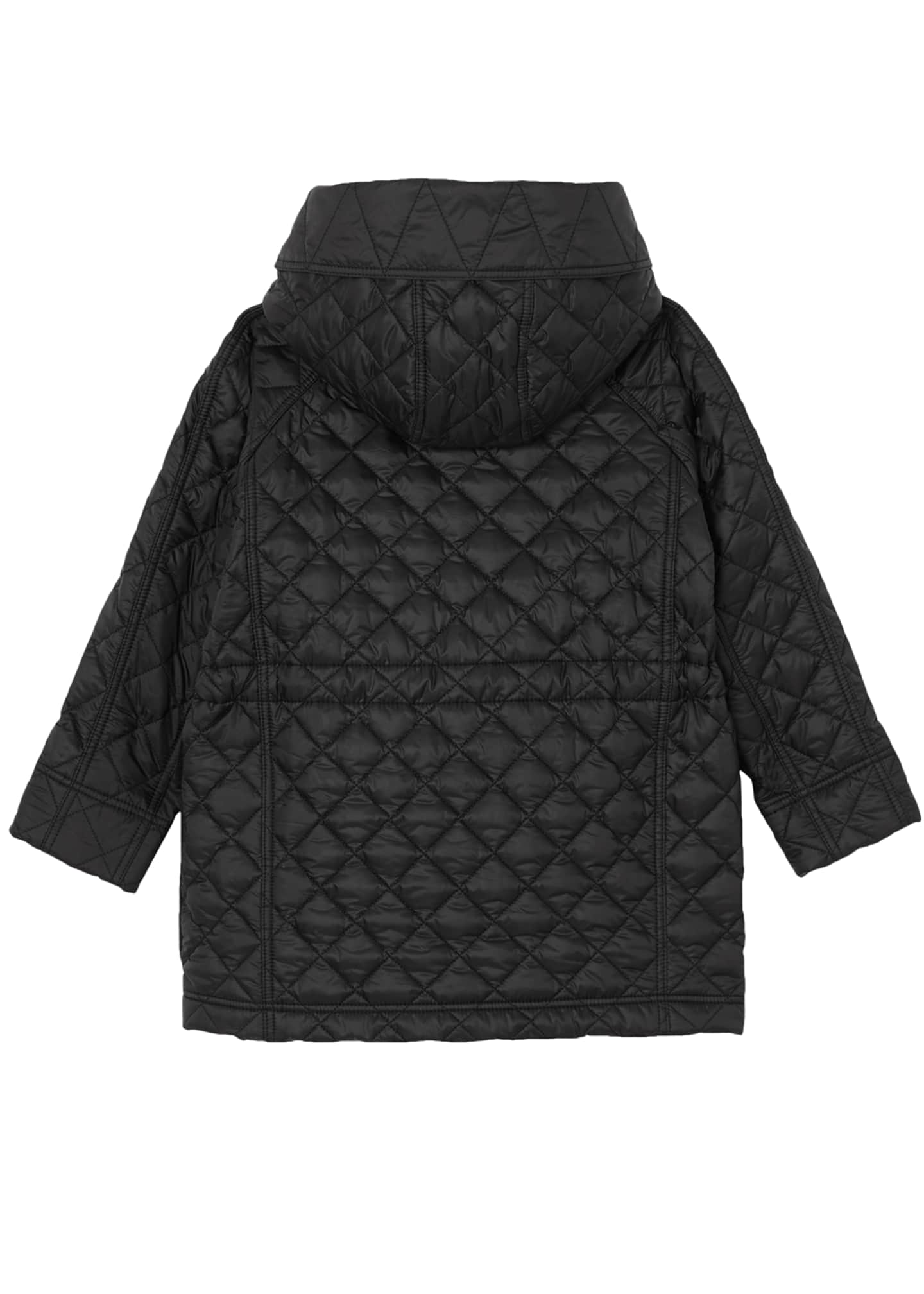 Image 3 of 4: Trey Long Quilted Coat, Size 3-14