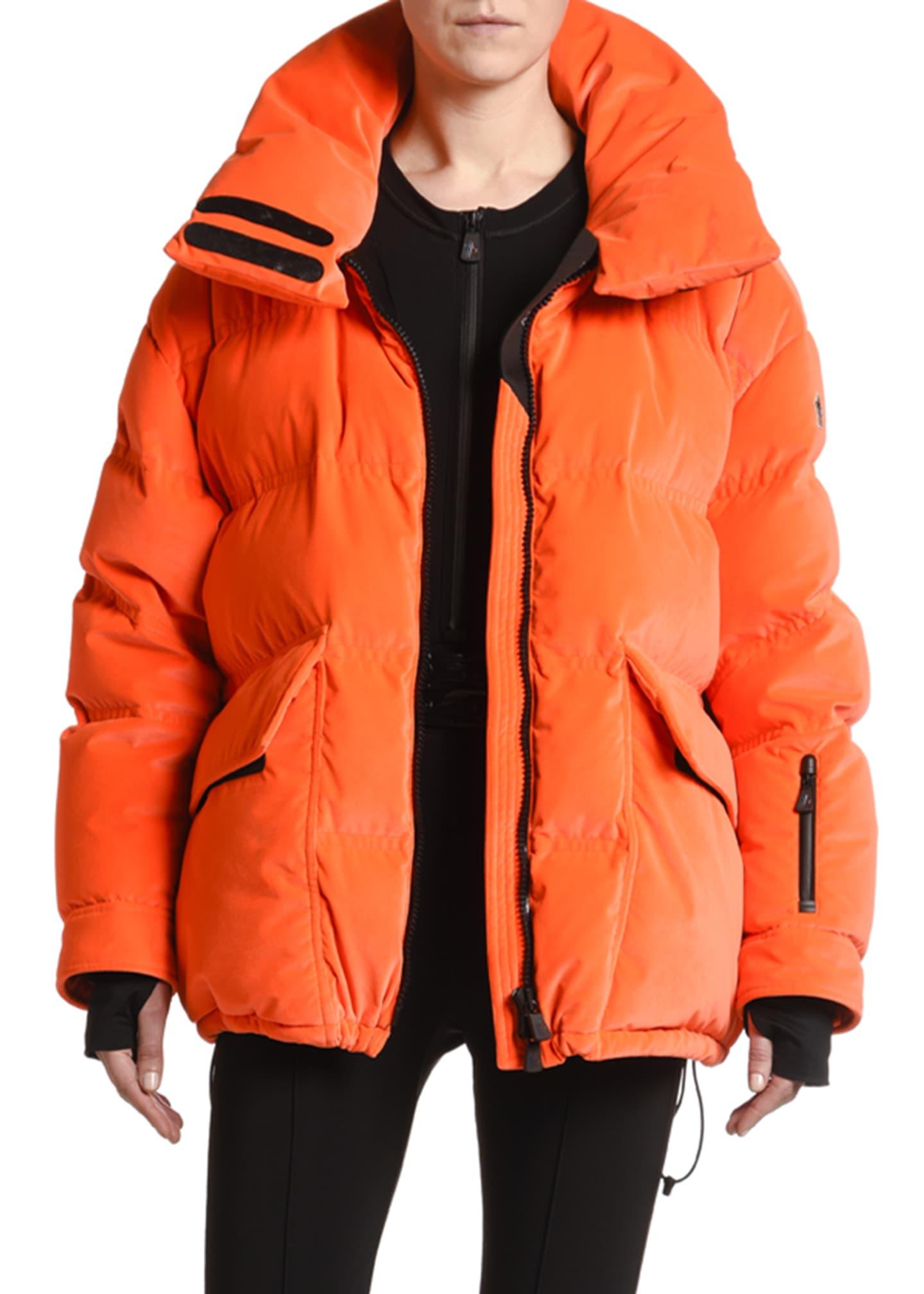 Moncler Oversized Flap-Pocket Puffer Coat