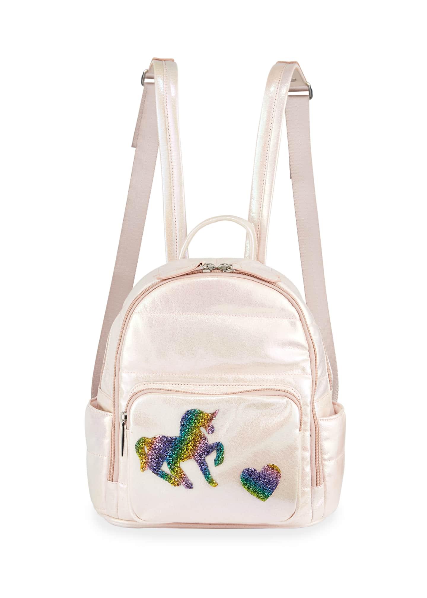 Bari Lynn Girls' Galaxy Puff Mini Backpack