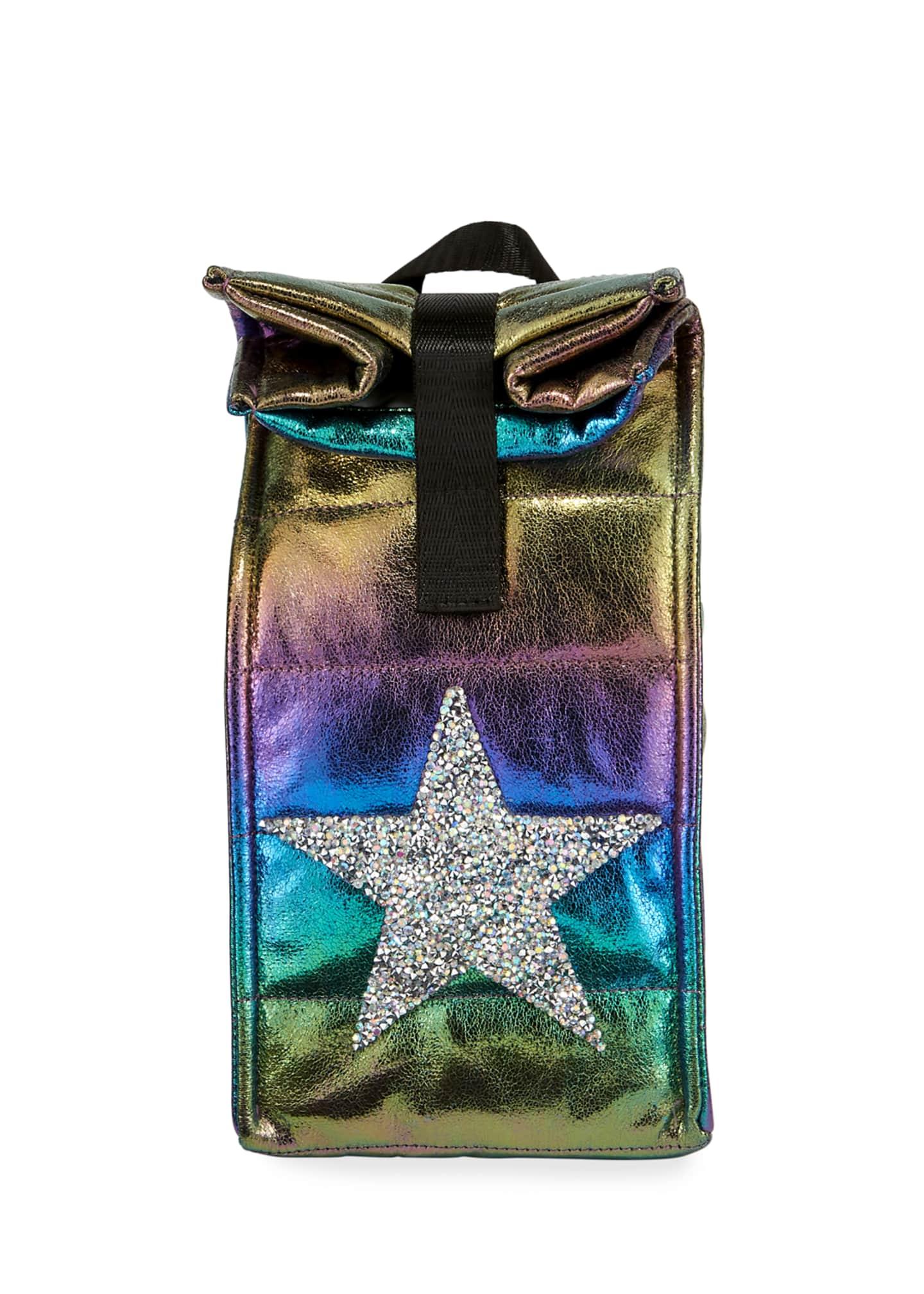 Bari Lynn Kid's Iridescent Snack Bag w/ Crystal