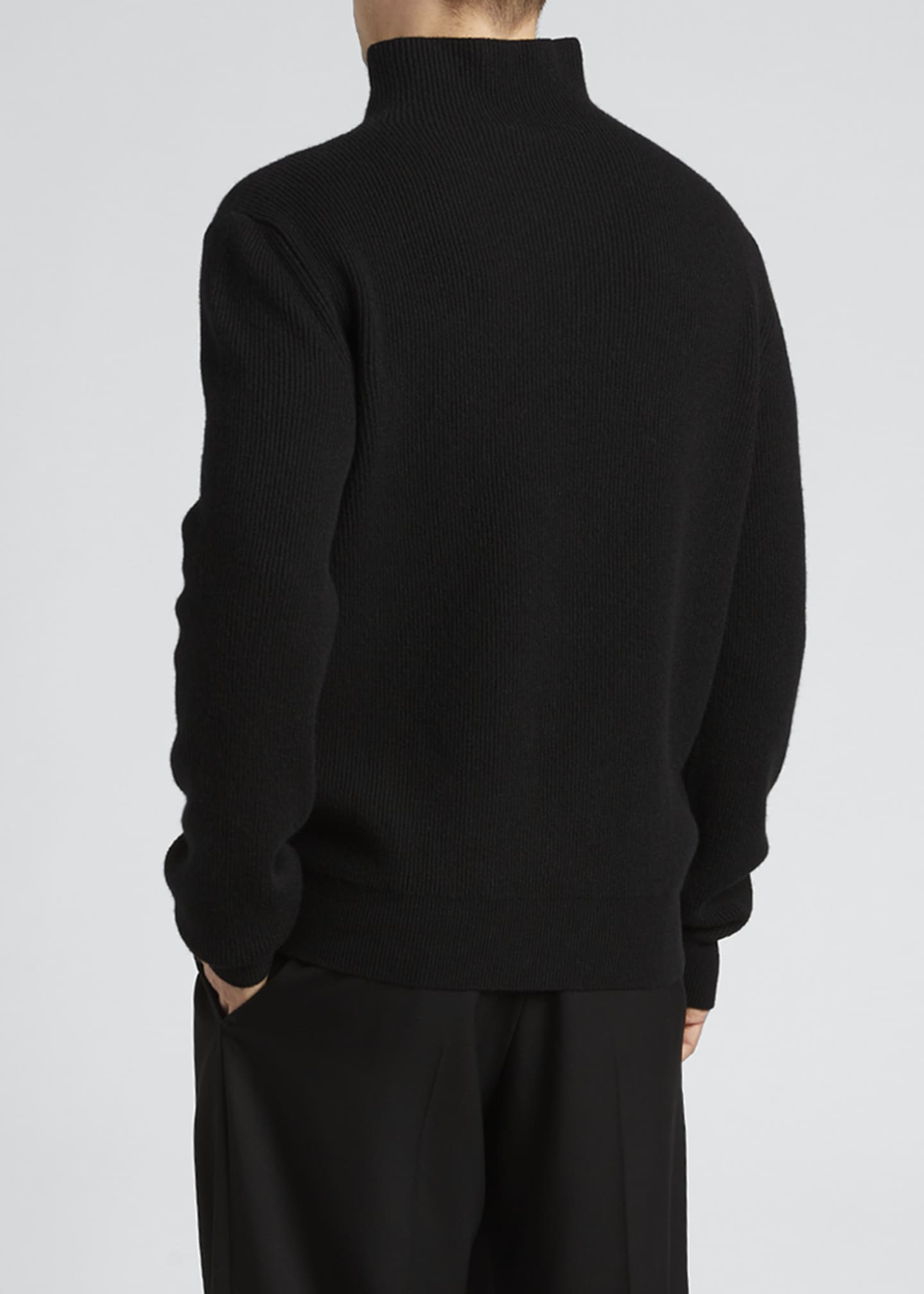 Image 2 of 2: Men's Daniel Roll-Neck Cashmere Sweater