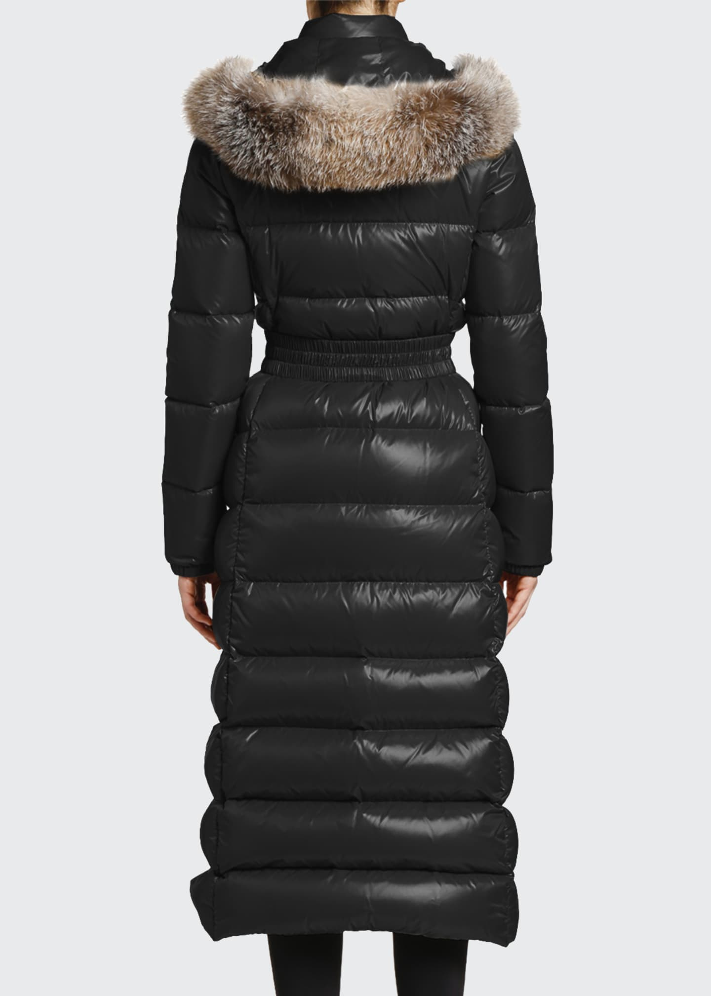 Image 2 of 4: Hudson Long Puffer Coat w/ Fur Hood