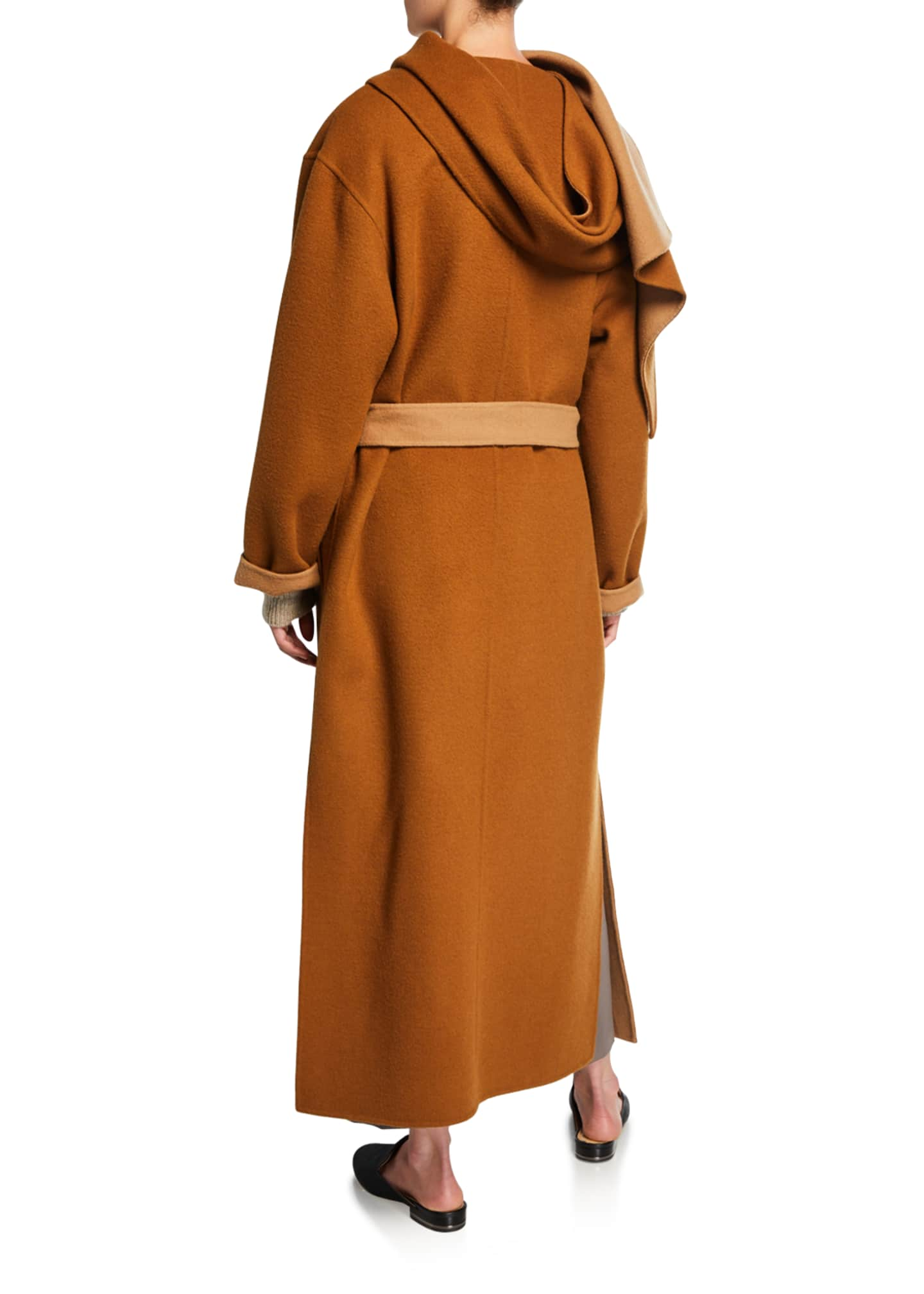 Image 2 of 2: Double-Faced Belted Wool Coat