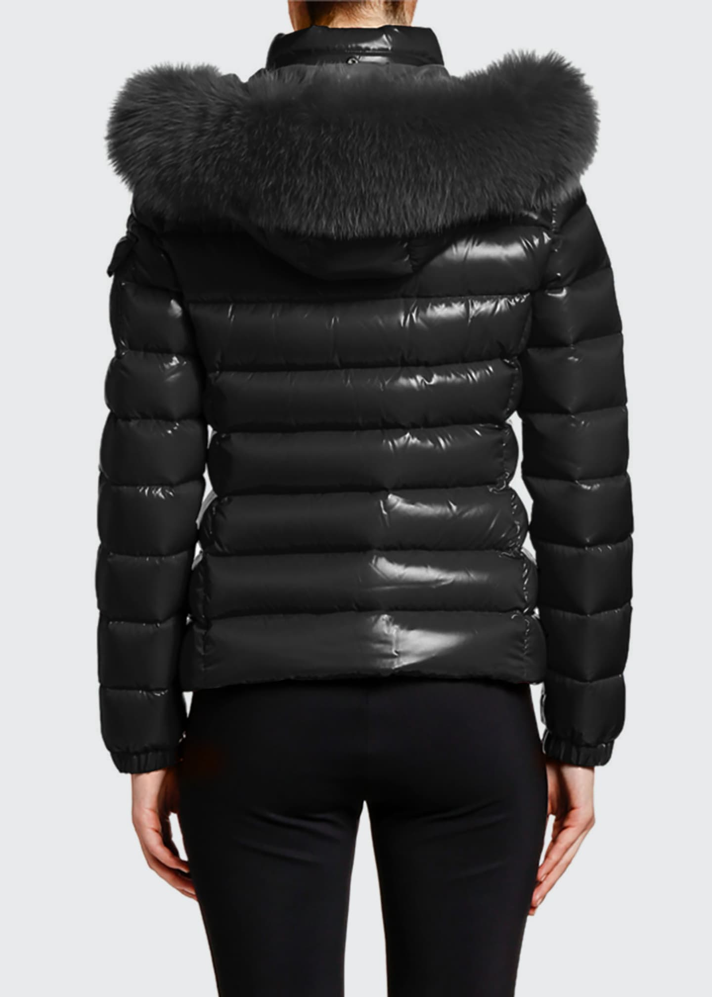 Image 2 of 4: Badyfur Puffer Jacket w/ Fur-Trim Hood