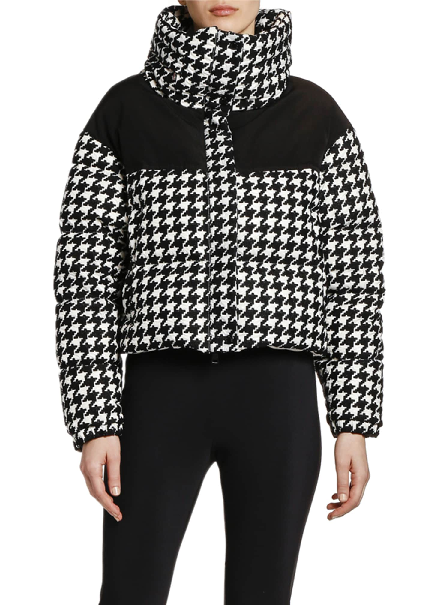 Image 2 of 2: Nil Houndstooth Puffer Jacket