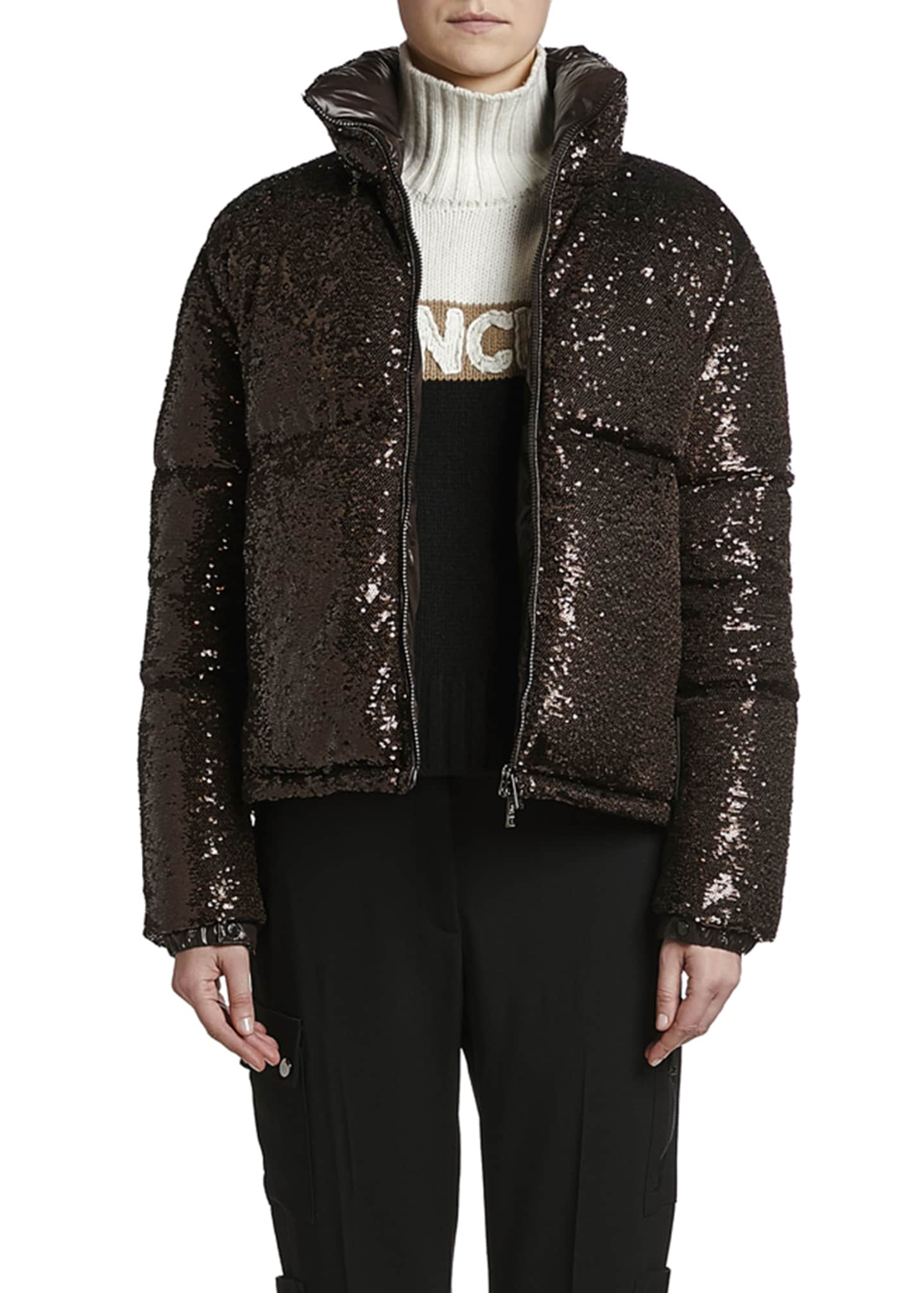 Image 3 of 3: Rimac Sequined Puffer Jacket