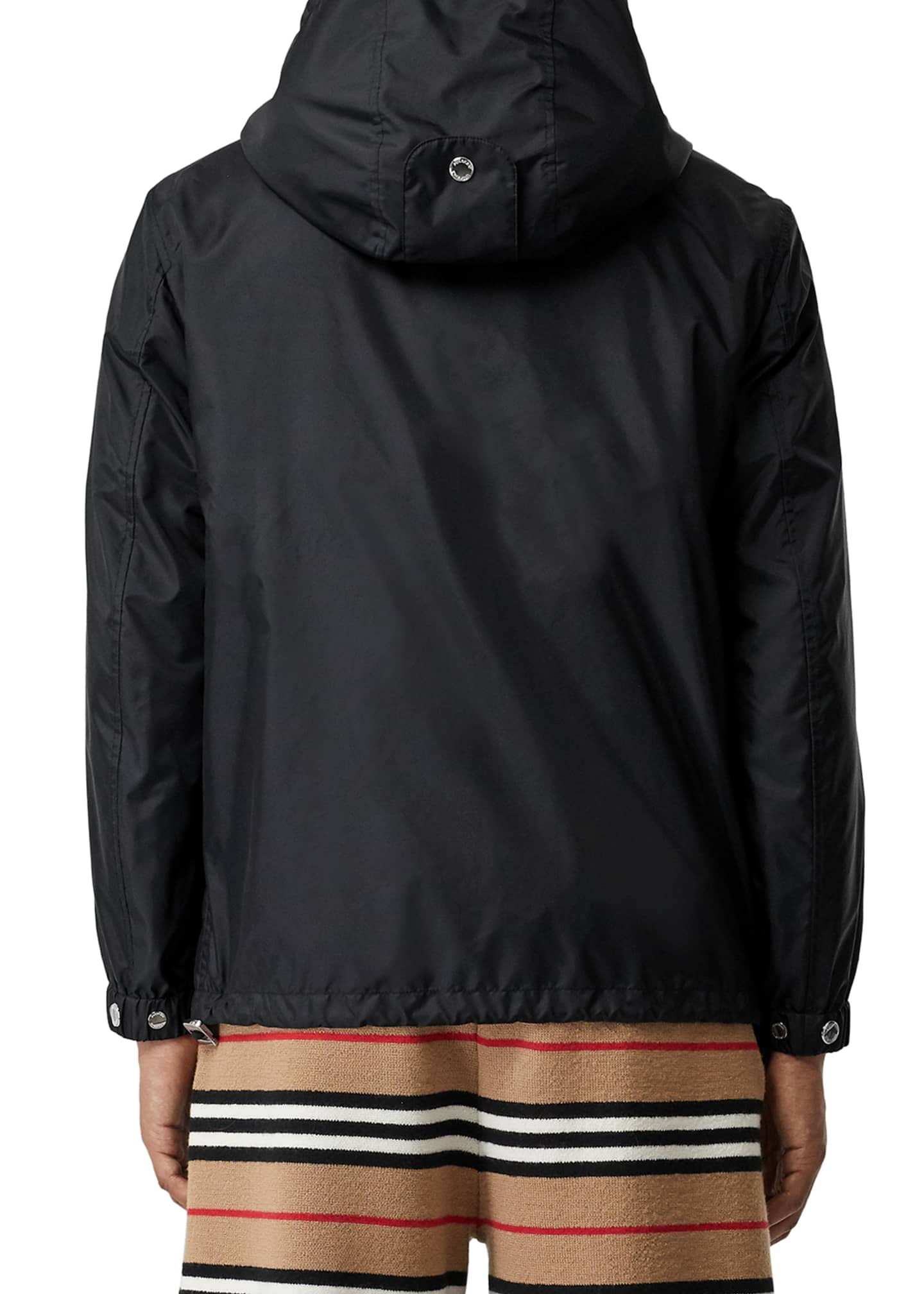 Burberry nylon jacket with check trim