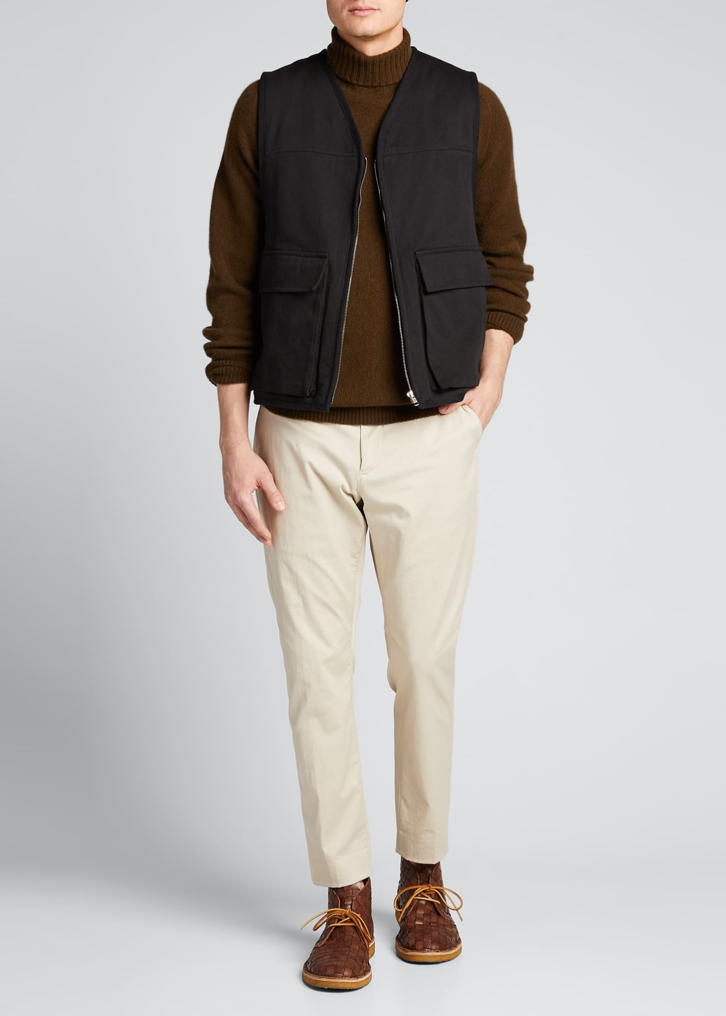Margaret Howell Men's Work Vest with Shearling Lining