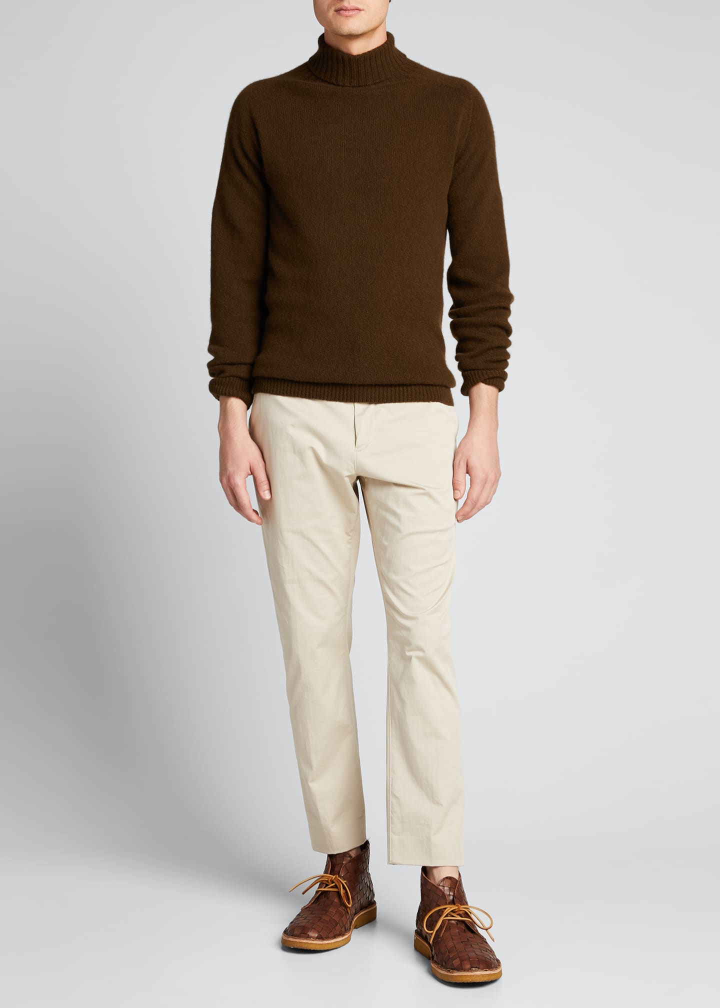 Margaret Howell Men's Solid Wool-Cashmere Turtleneck Sweater