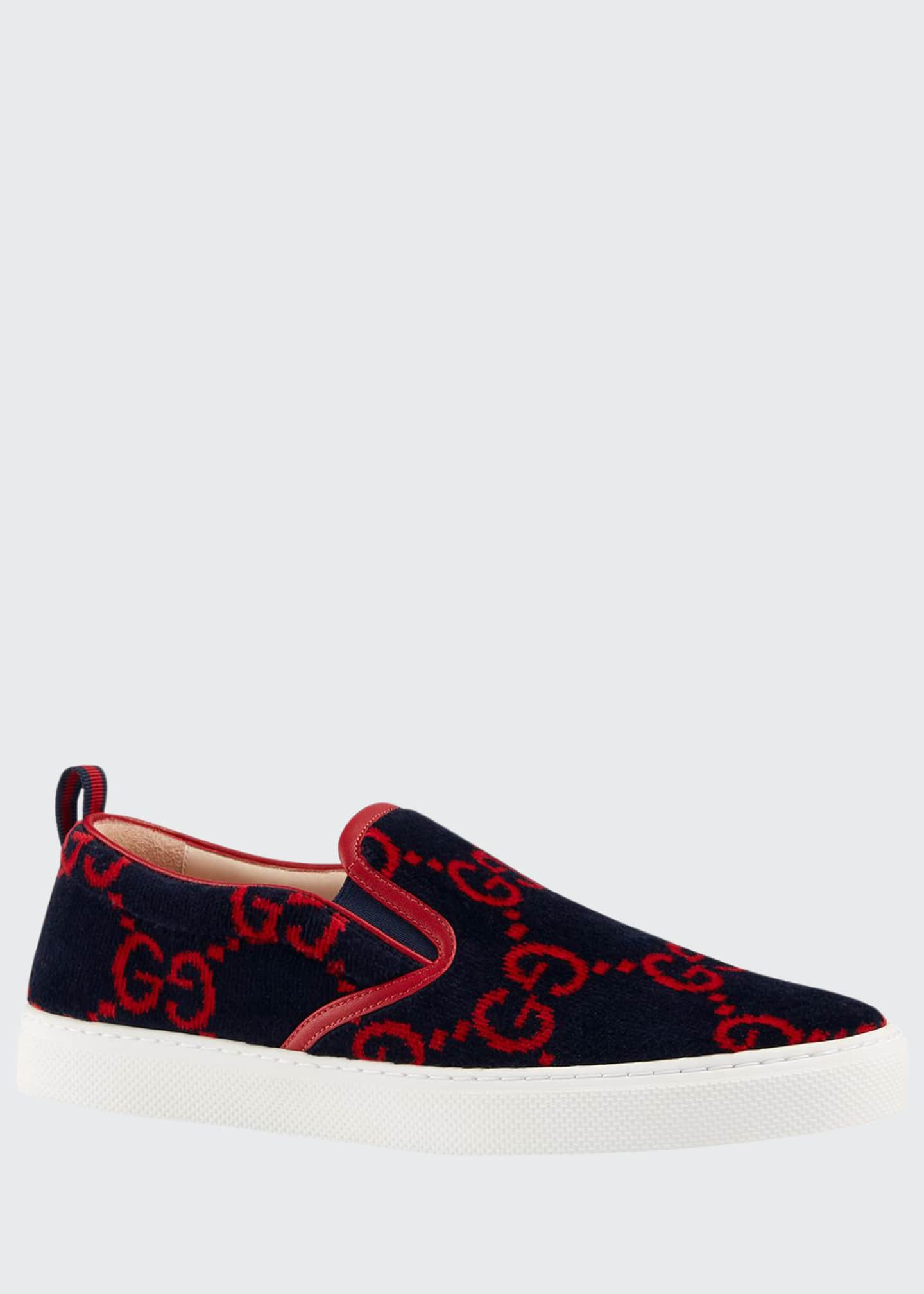 Gucci Men's Dublin Terry Cloth Slip On Sneakers