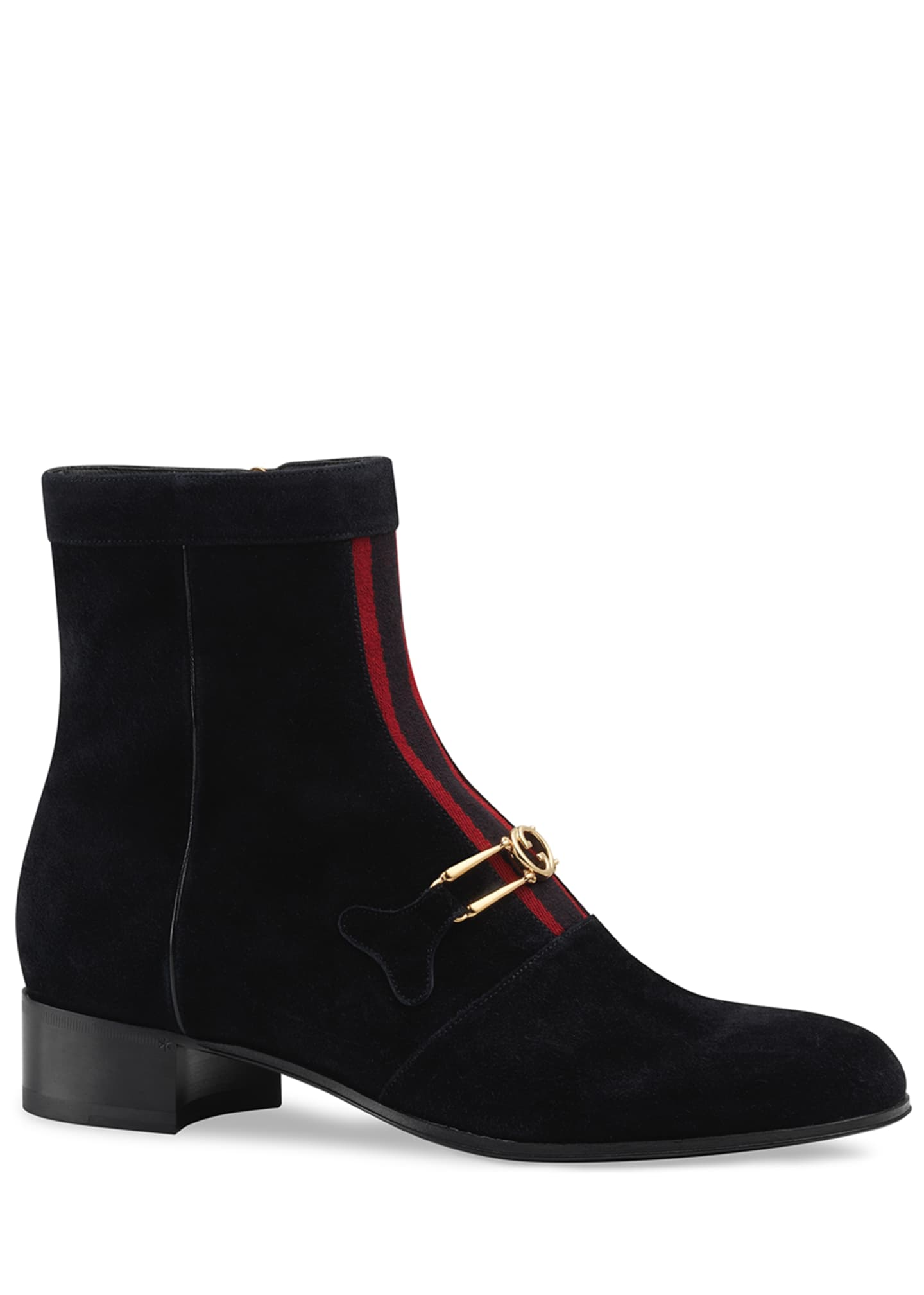 Gucci Men's Lubbock G Logo and Web-Stripe Suede