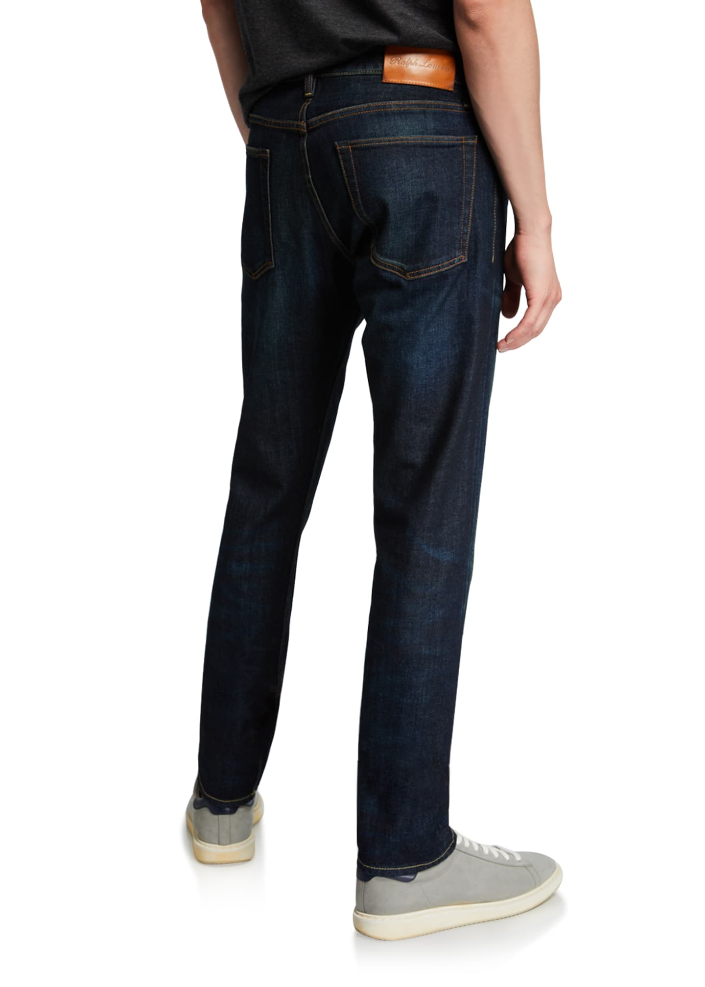 Image 2 of 3: Men's Straight Denim Jeans