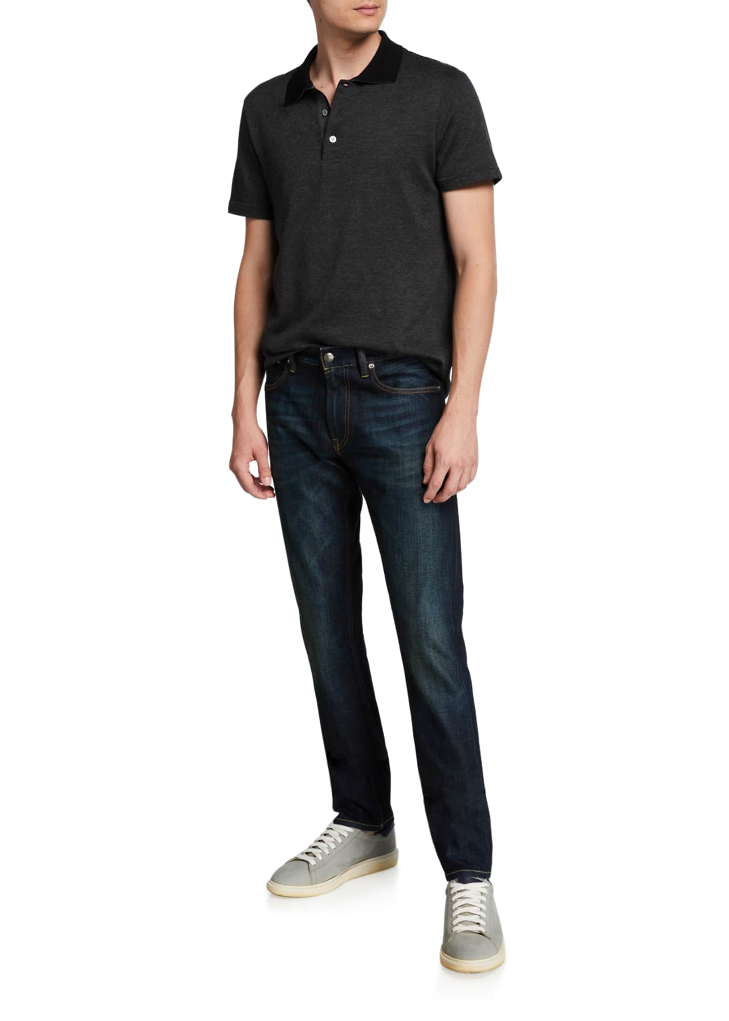 Image 3 of 3: Men's Straight Denim Jeans