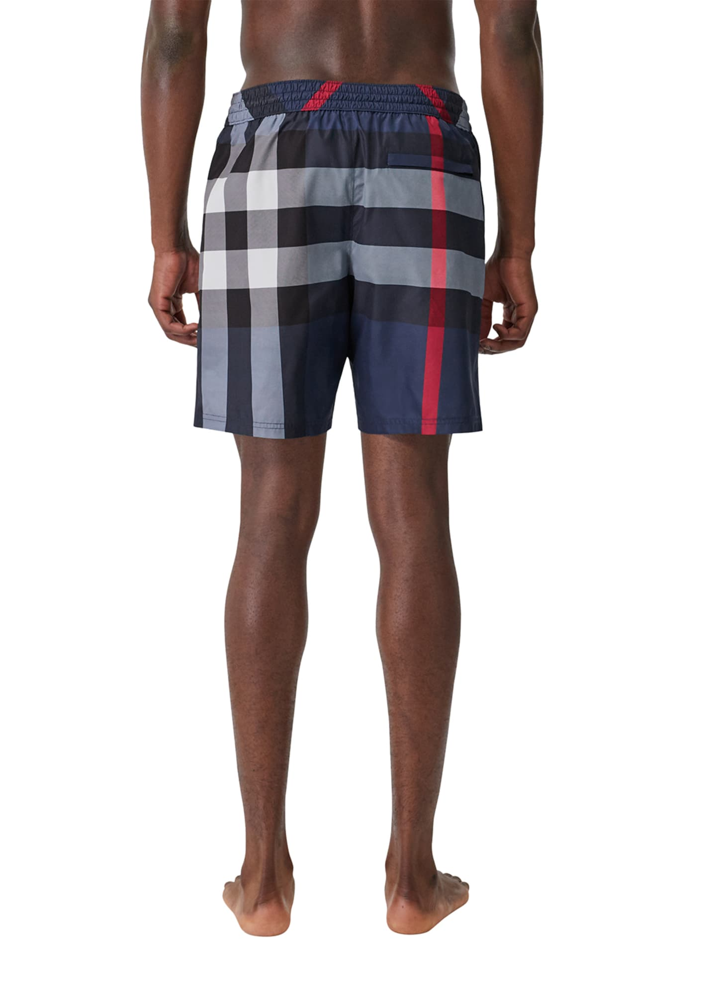 Image 2 of 4: Men's Guildes Signature Check Swim Trunks