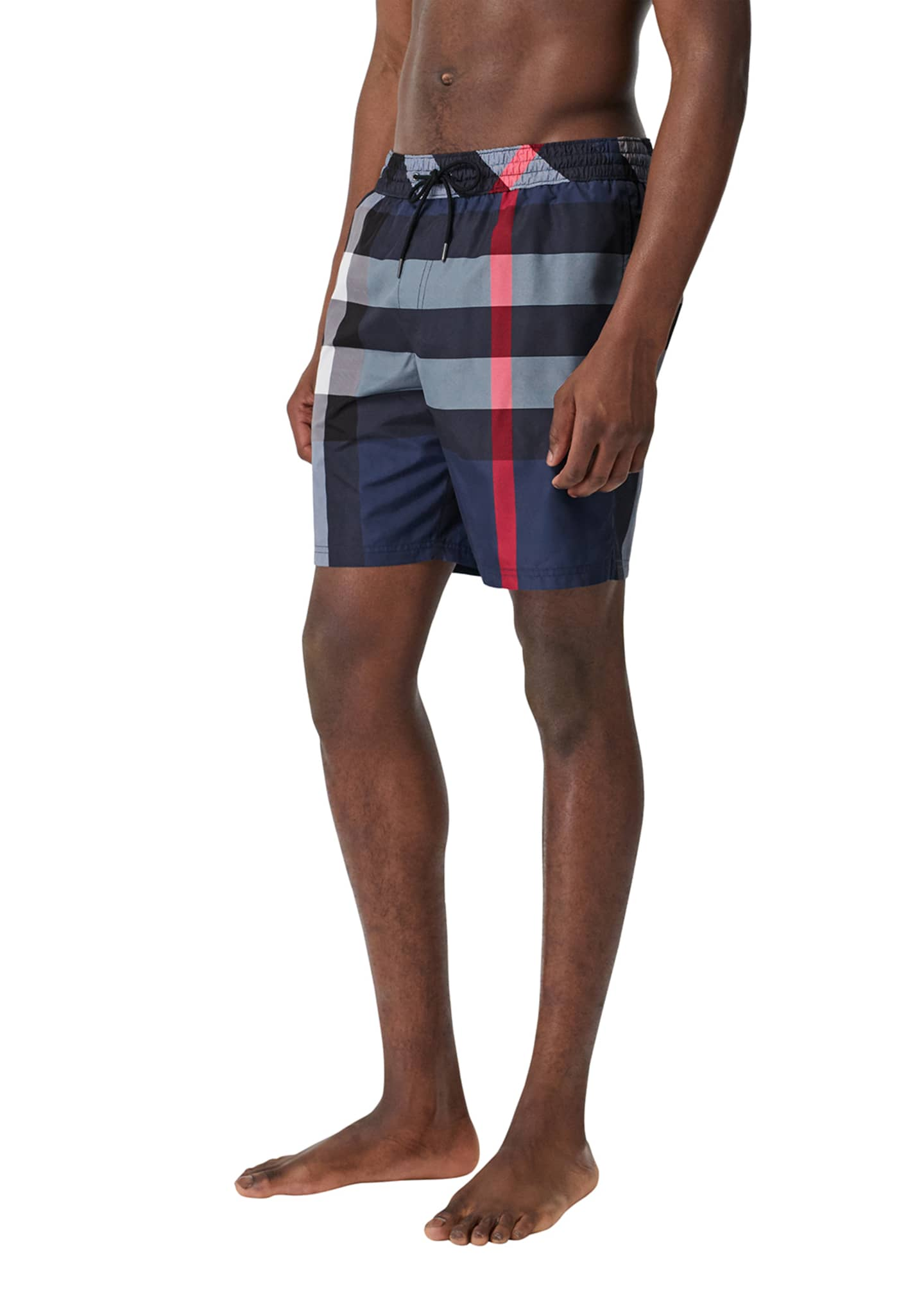 Image 3 of 4: Men's Guildes Signature Check Swim Trunks