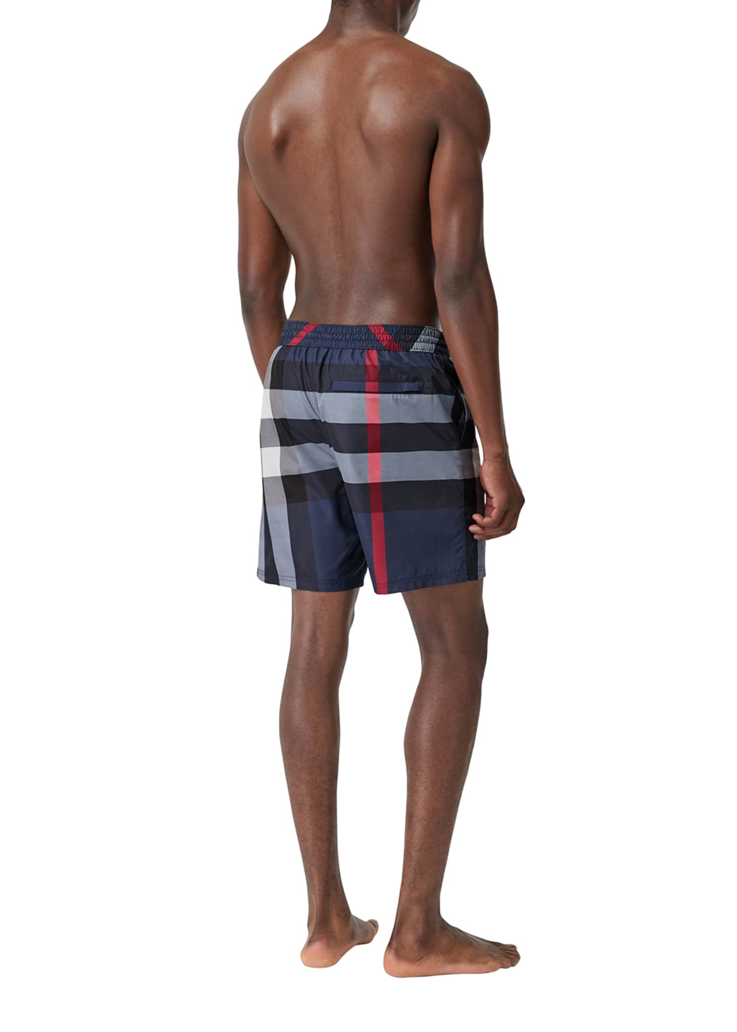 Image 4 of 4: Men's Guildes Signature Check Swim Trunks