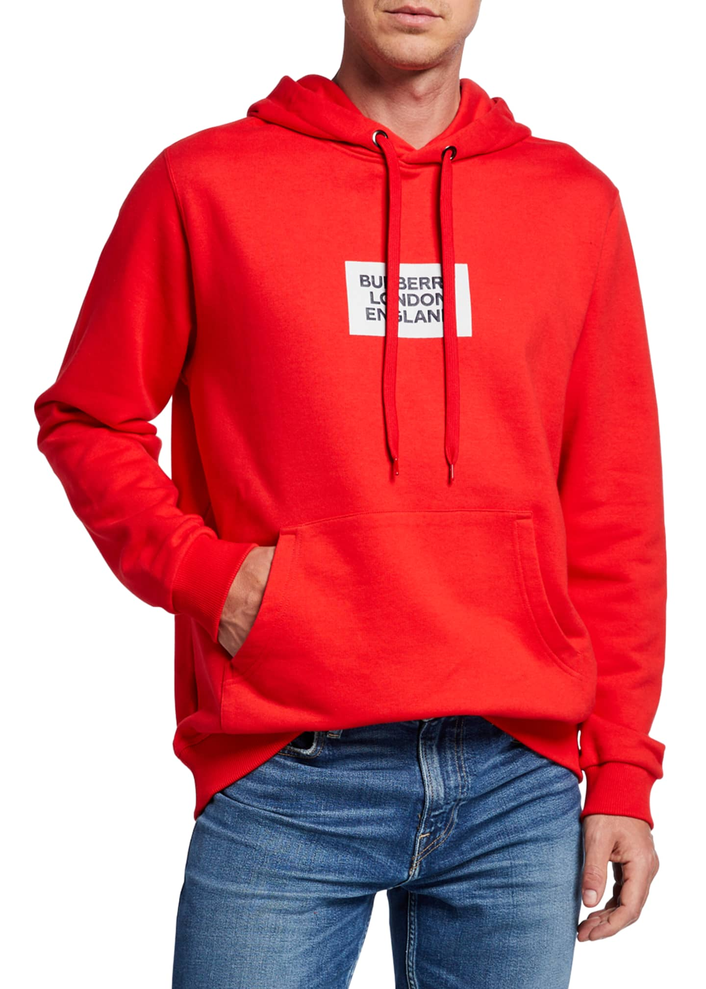 Burberry Men's Farrows Logo Hoodie Sweatshirt