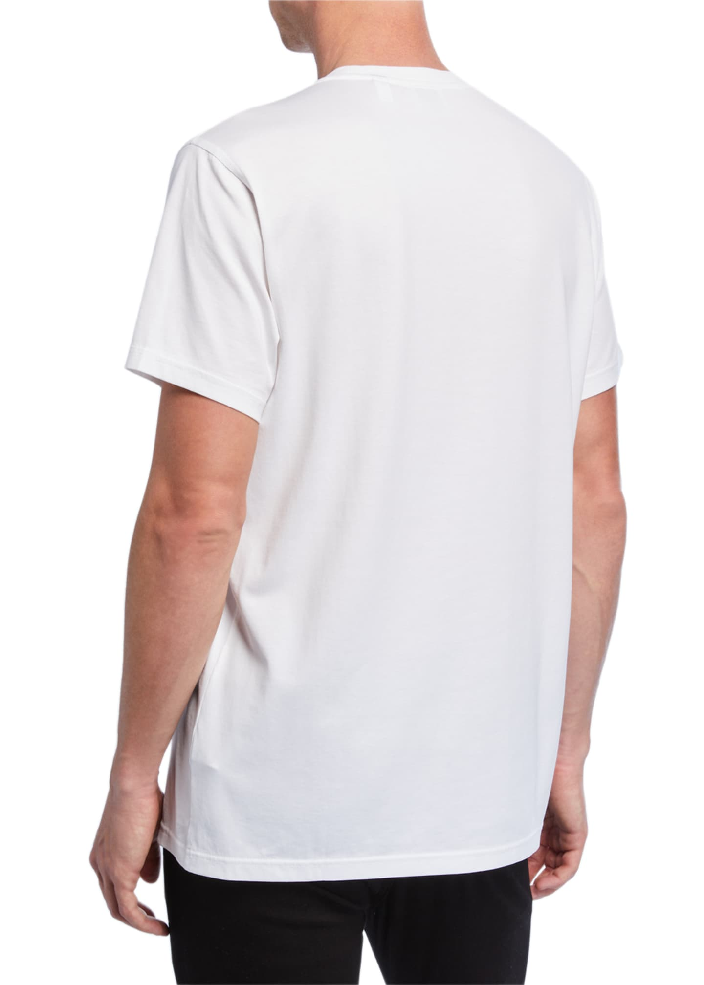 Image 2 of 2: Men's Parker Logo-Embroidered T-Shirt, White