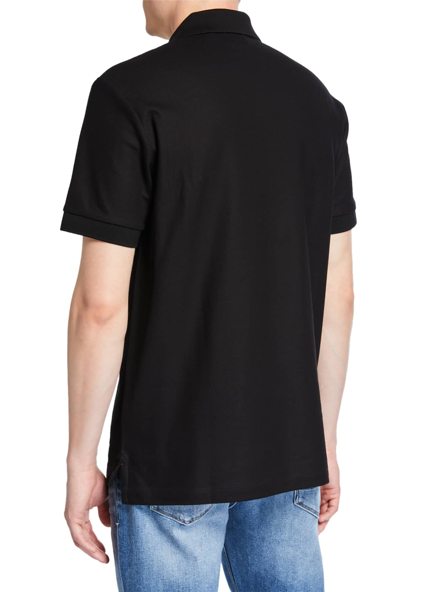 Image 2 of 2: Men's Eddie Pique Polo Shirt, Black