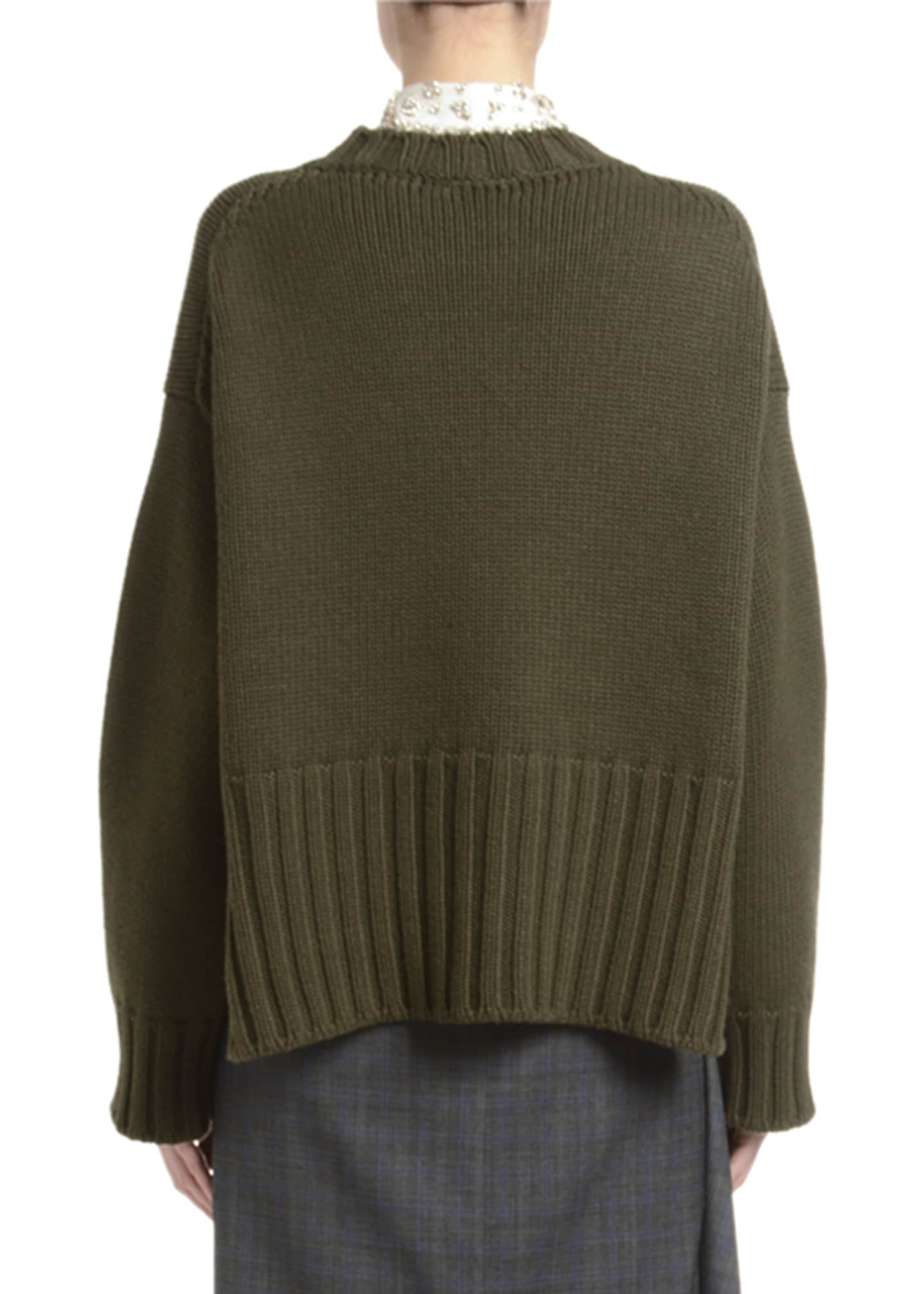 Image 2 of 2: Heavy Cashmere Crewneck Sweater