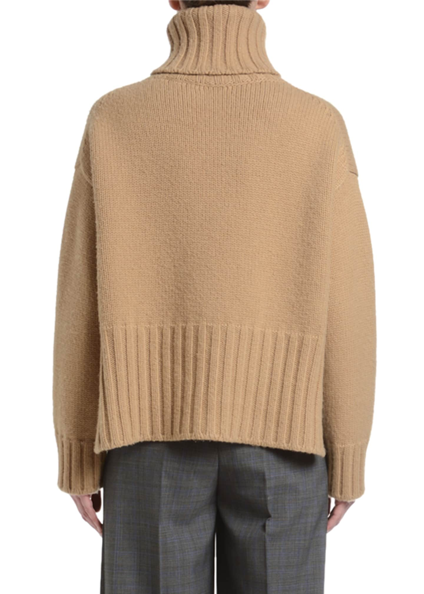Image 2 of 2: Heavy Cashmere Turtleneck Sweater
