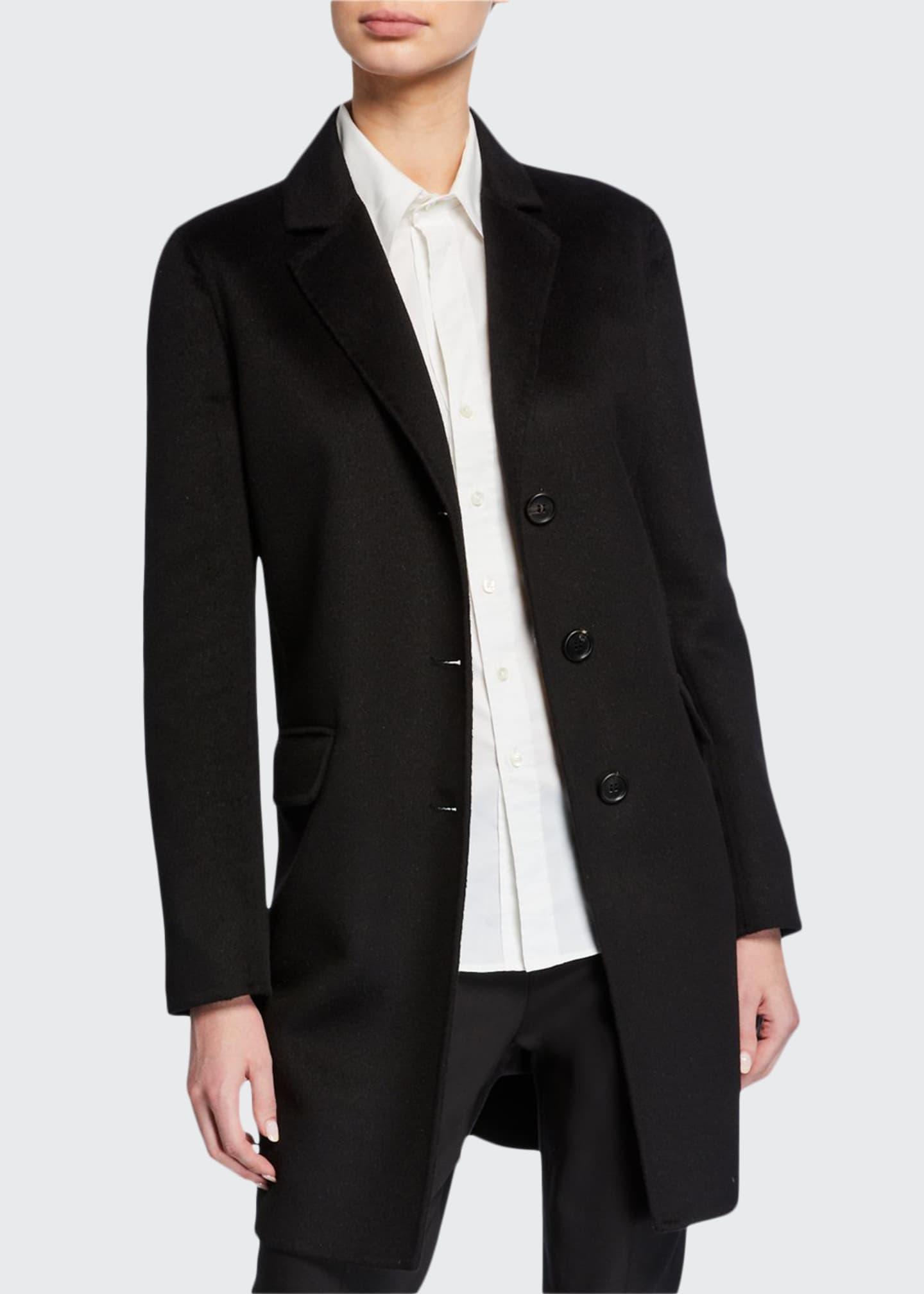 Prada Lightweight Cashgora Mid-Length Coat