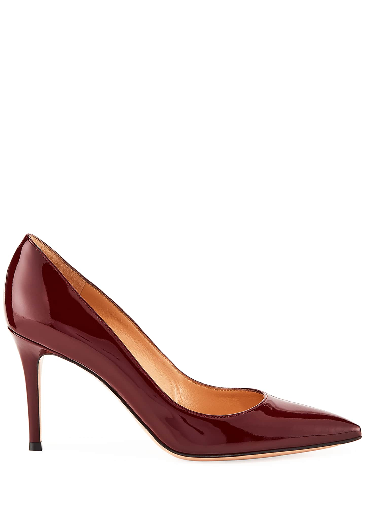 Image 2 of 3: Gianvito 85 Patent Leather Point-Toe Pumps
