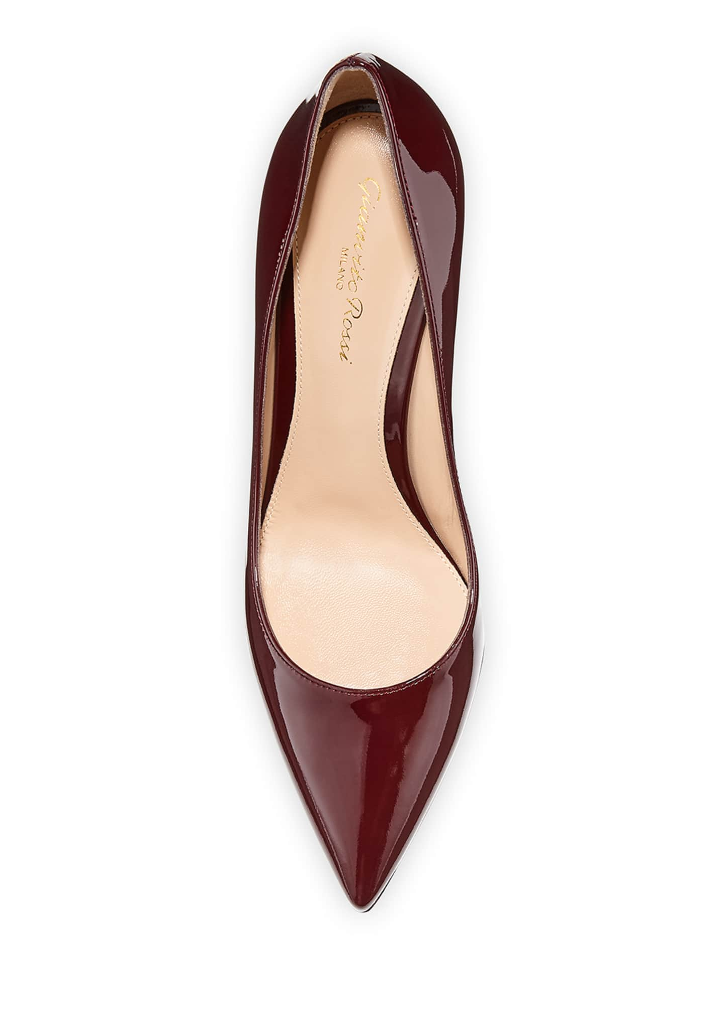 Image 3 of 3: Gianvito 85 Patent Leather Point-Toe Pumps