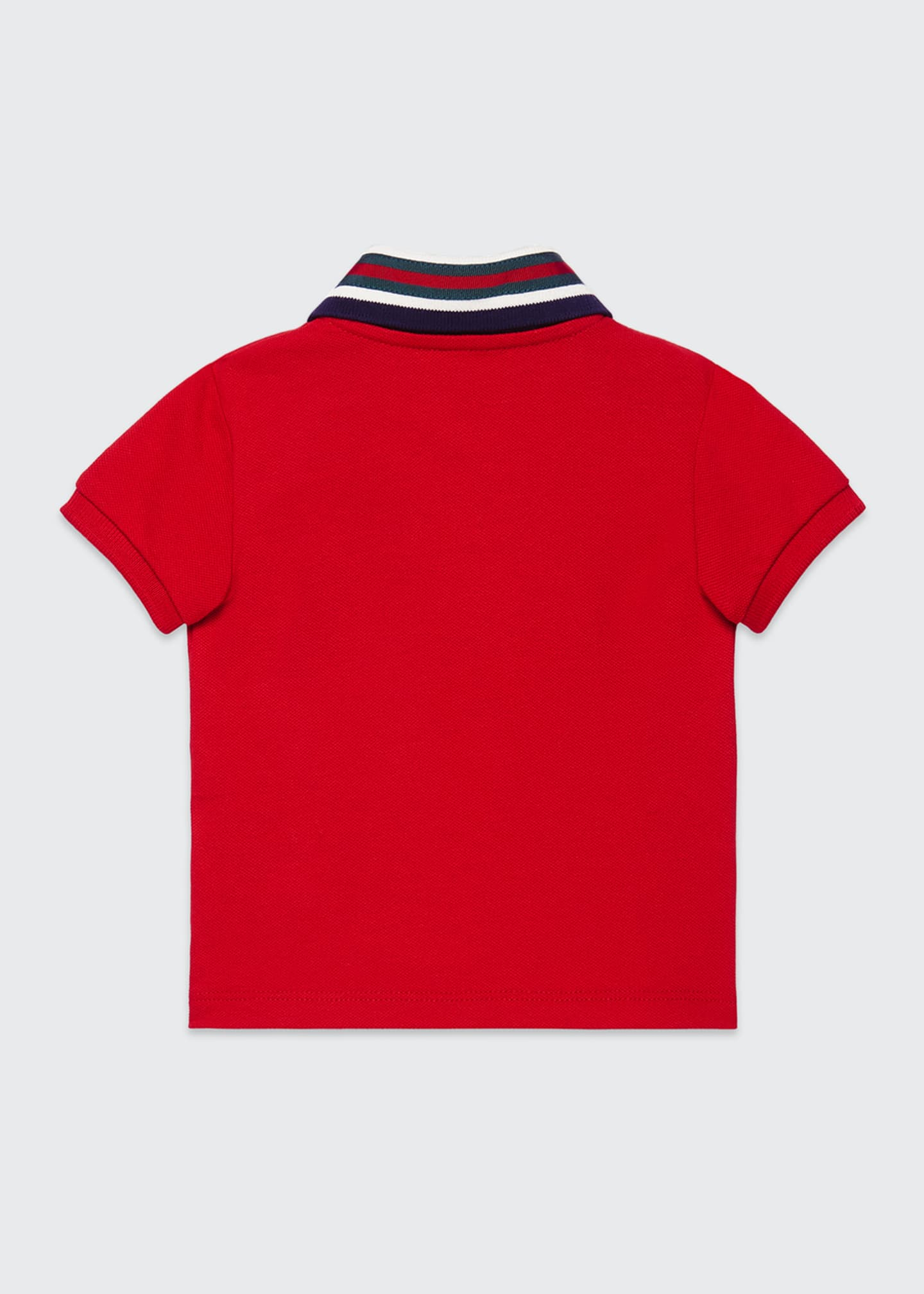 Image 2 of 2: Short-Sleeve Polo Shirt w/ Web Trim Collar, Size 12-36 Months