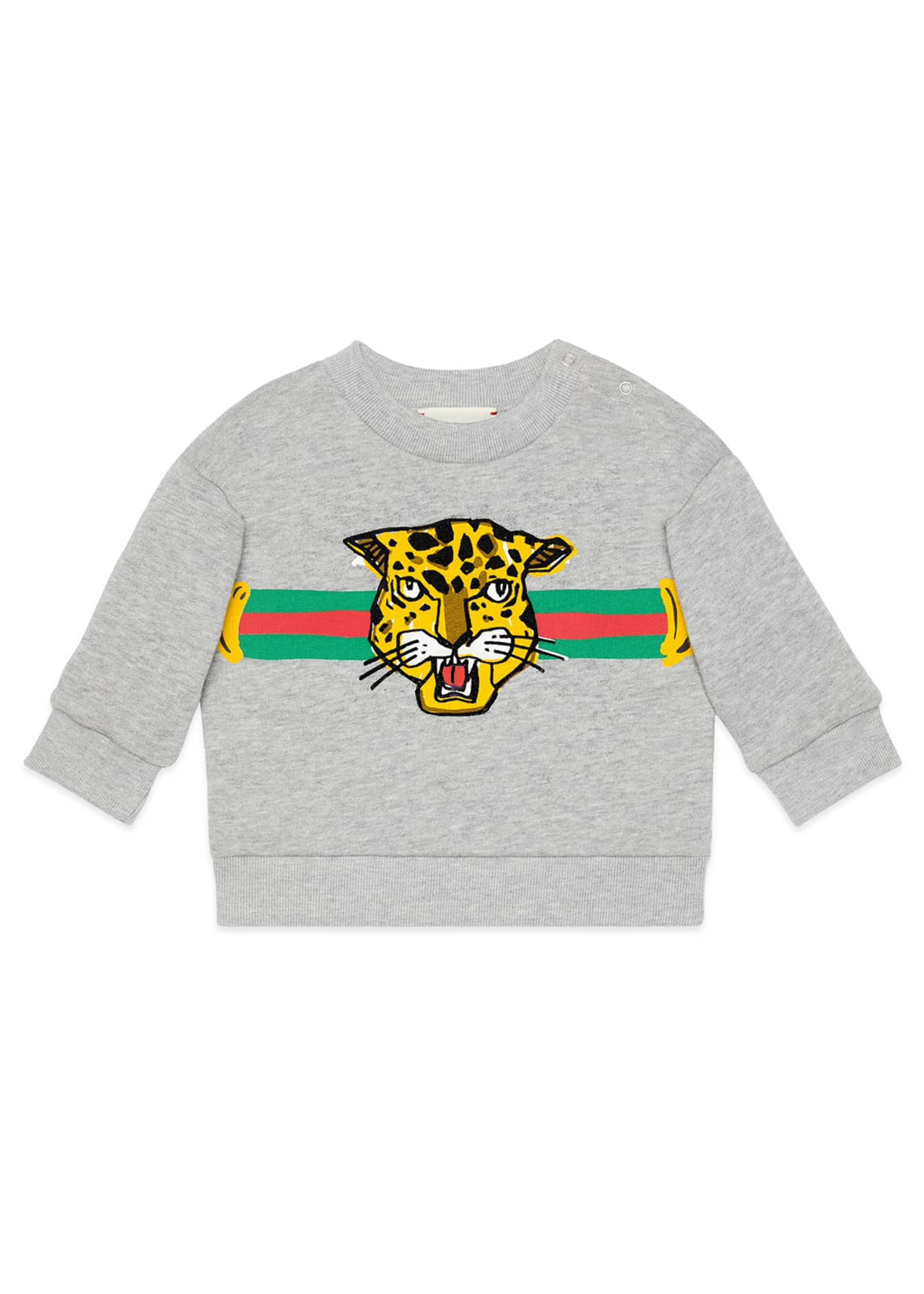 Gucci Boys' Cat Graphic Crewneck Sweatshirt, Size 12-36