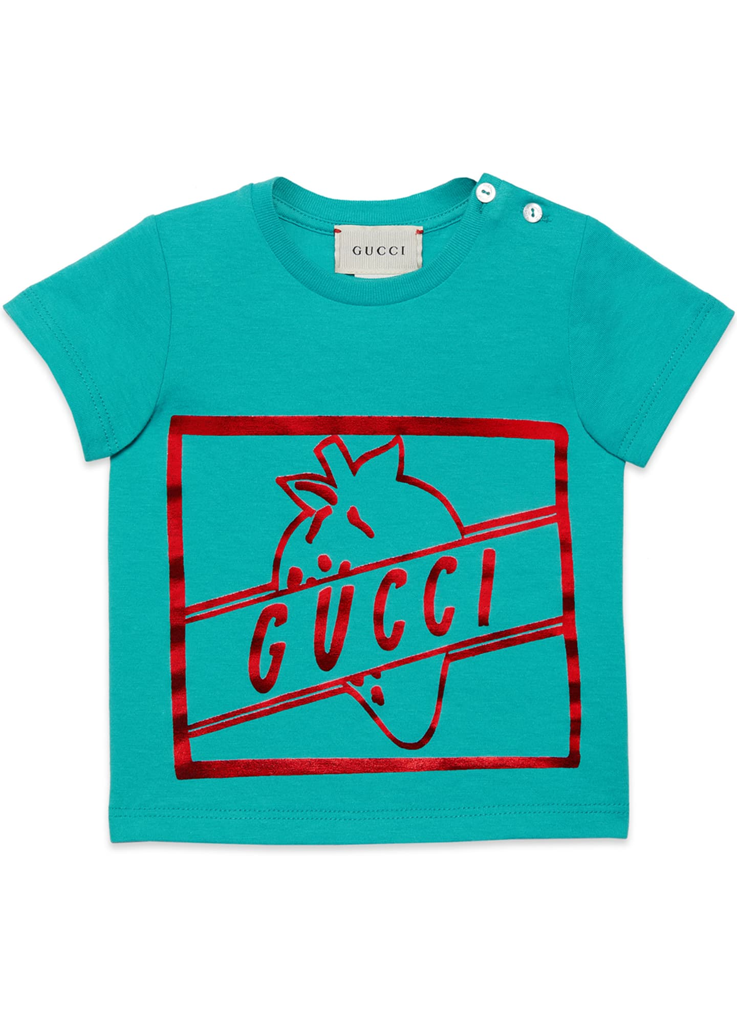 Gucci Girls' Short-Sleeve Crewneck Graphic T-Shirt, Size 6-36