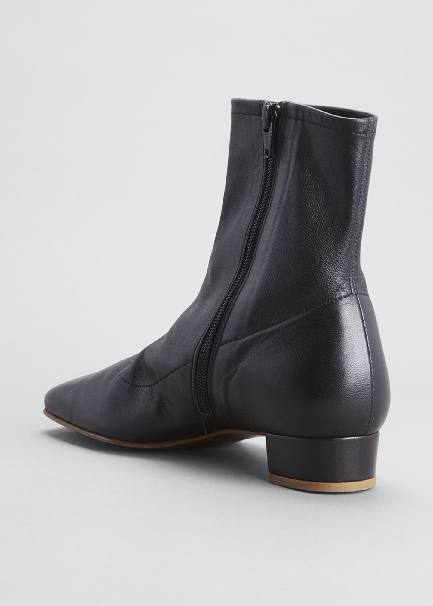 Image 4 of 5: Sofia Leather Ankle Booties