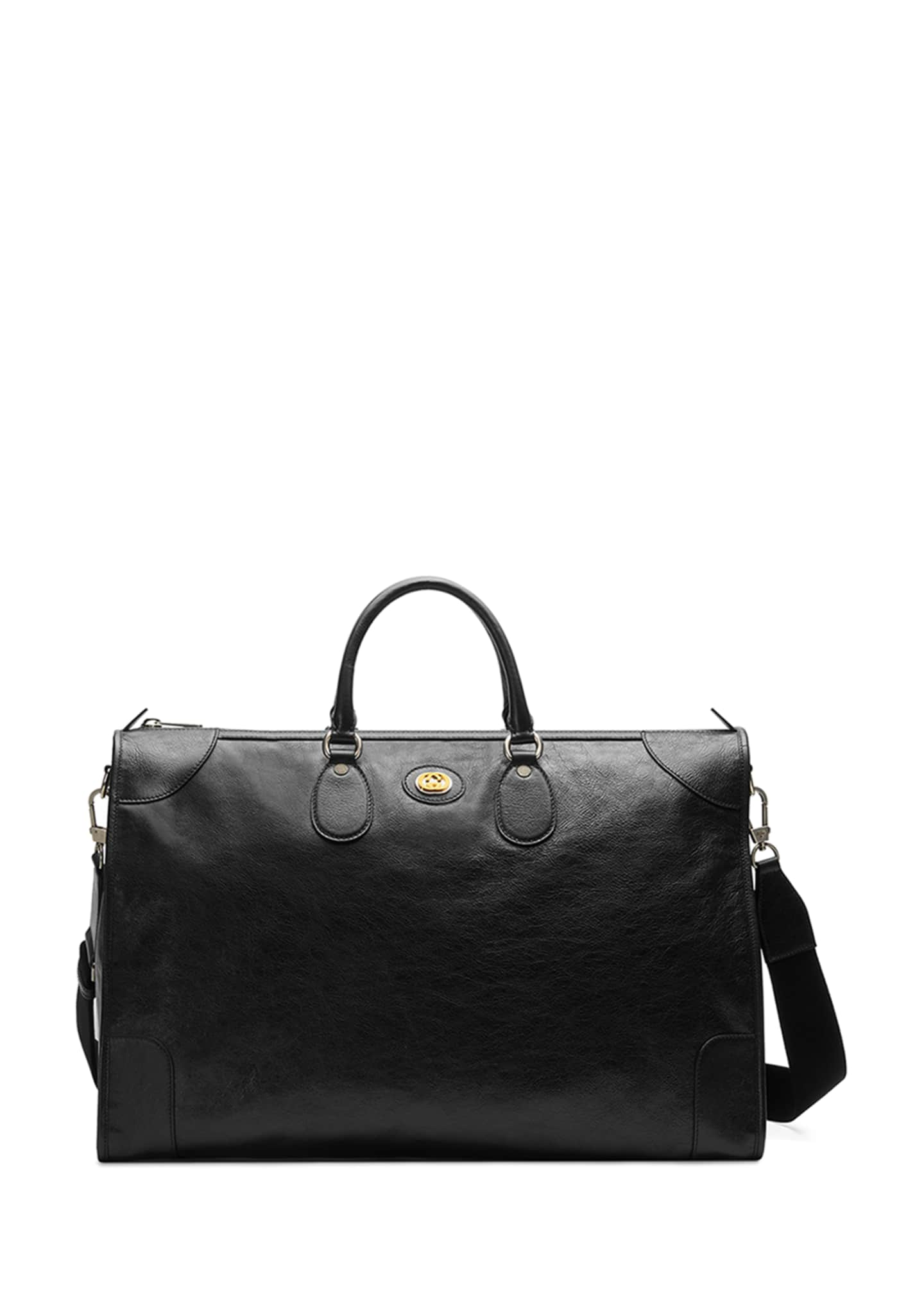 Gucci Men's Leather Weekender Duffel Bag