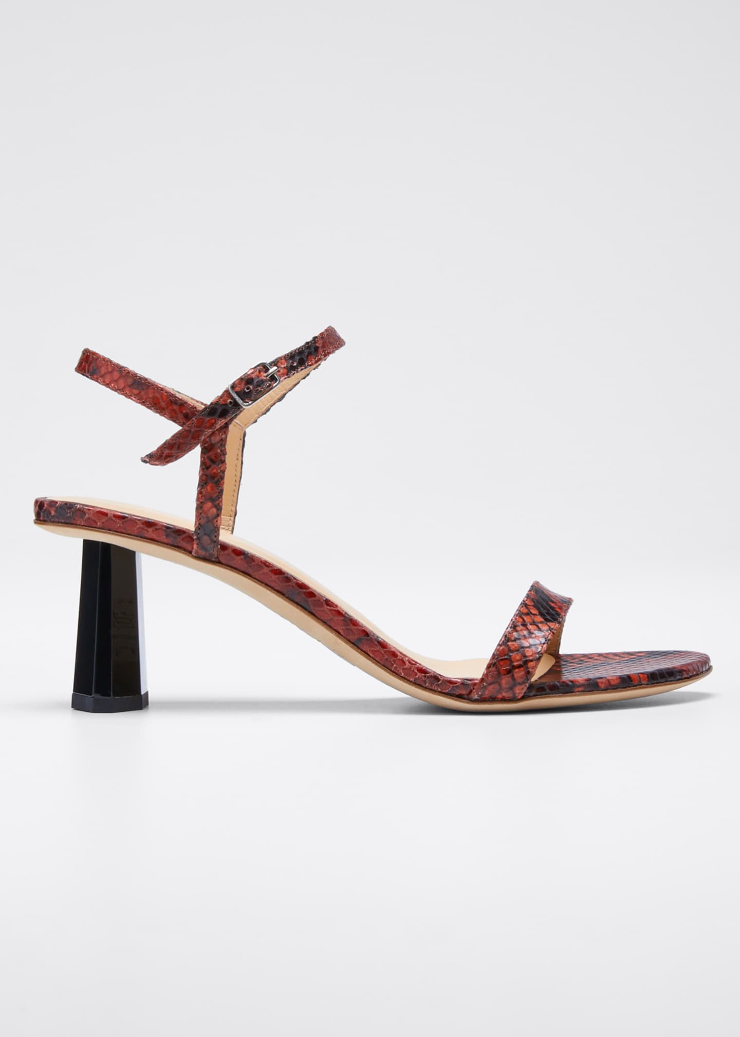 BY FAR Magnolia Snake-Print Sandals