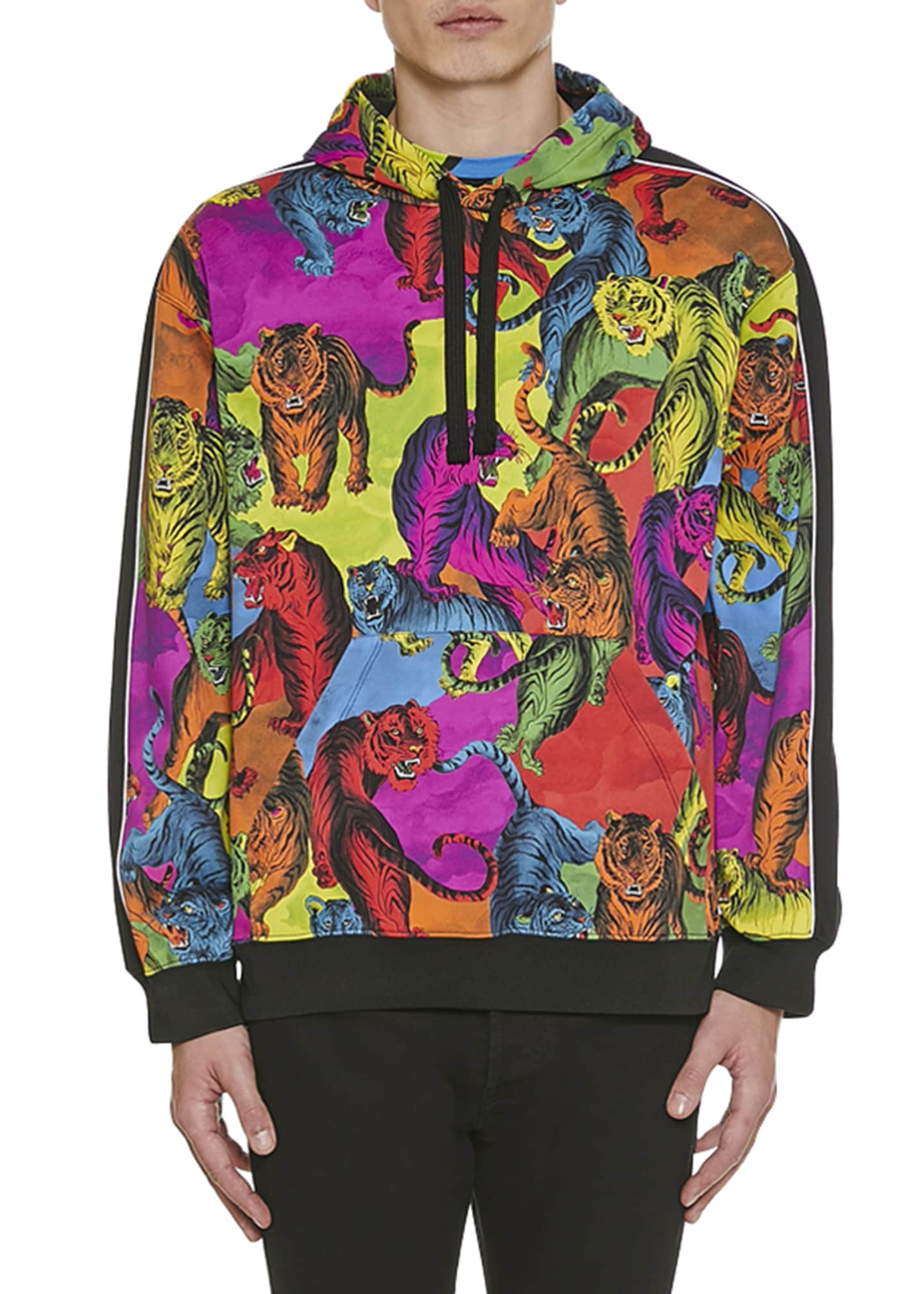 Valentino Men's Multi-Tiger Pullover Hoodie