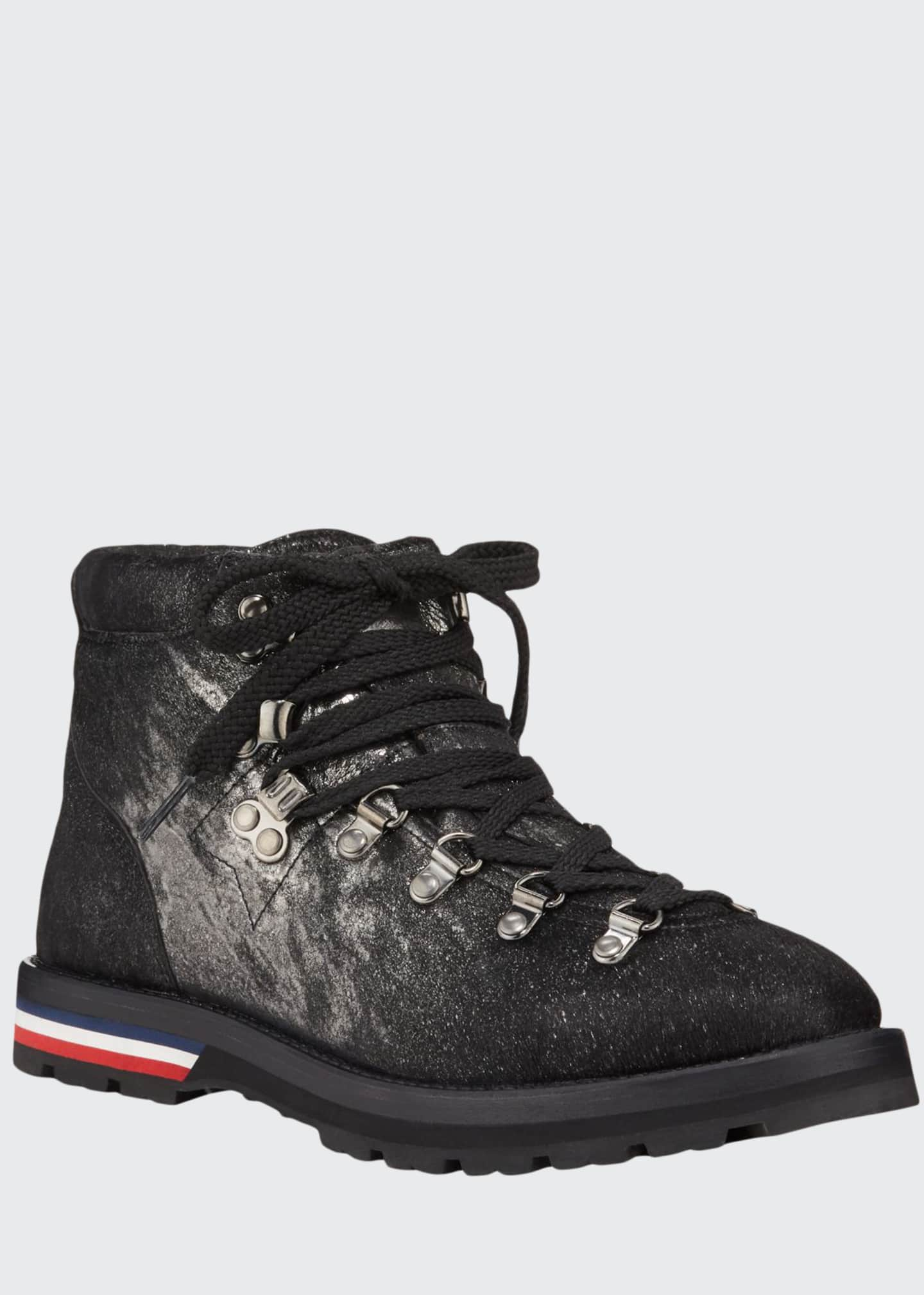 Moncler Blanche Scarpa Textured Boots