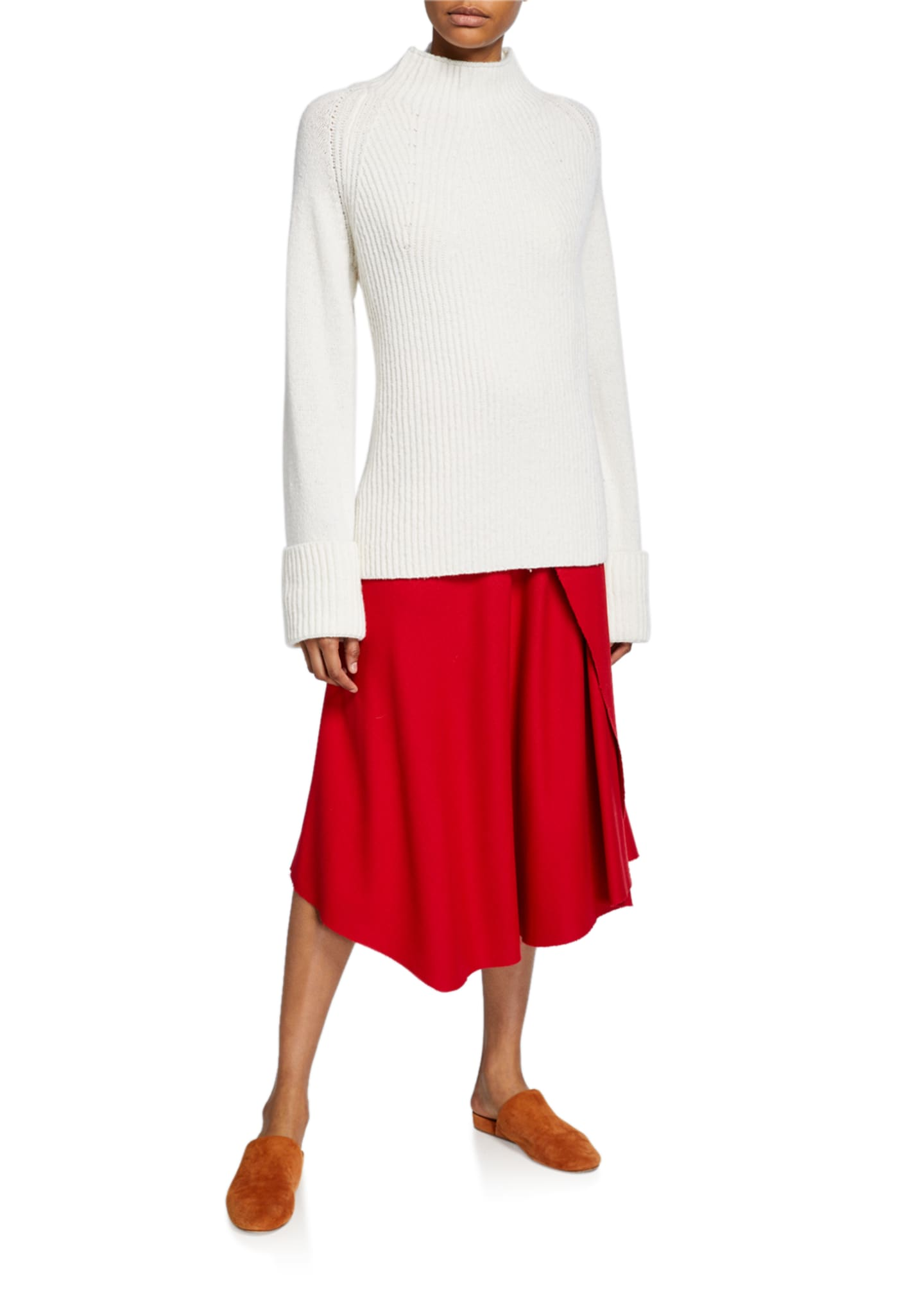Image 3 of 3: Asymmetric Drape Skirt
