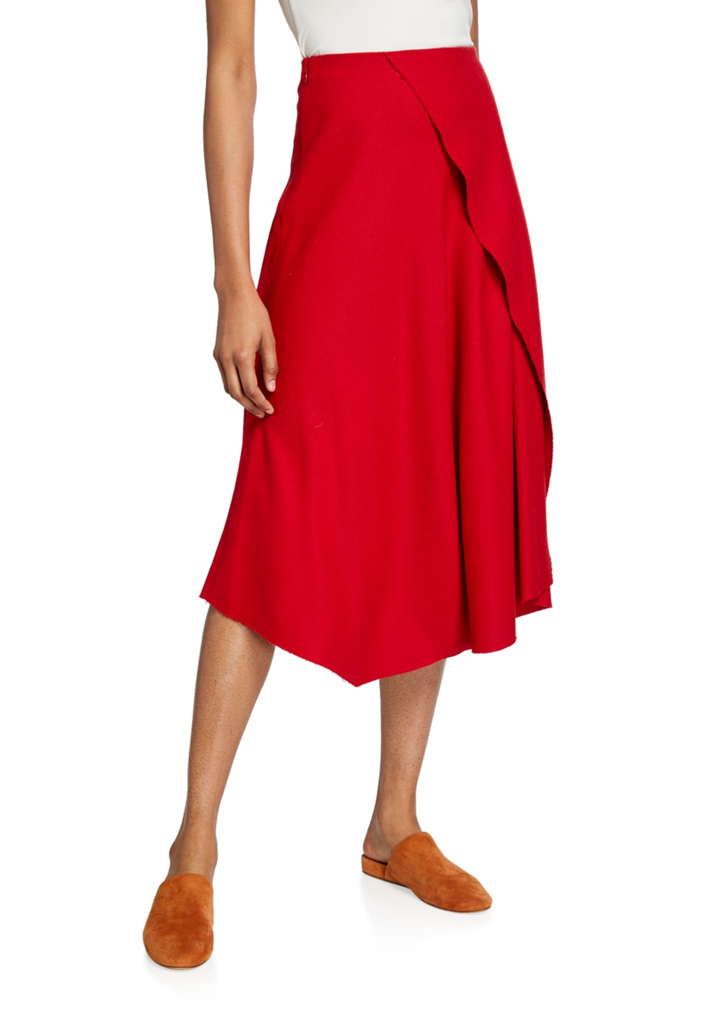 Image 1 of 3: Asymmetric Drape Skirt