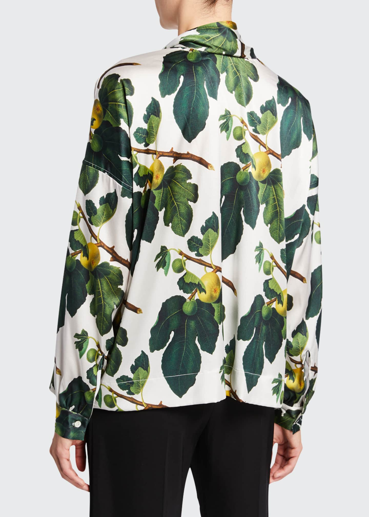 Image 2 of 2: Figgy Pudding Tie-Neck Blouse