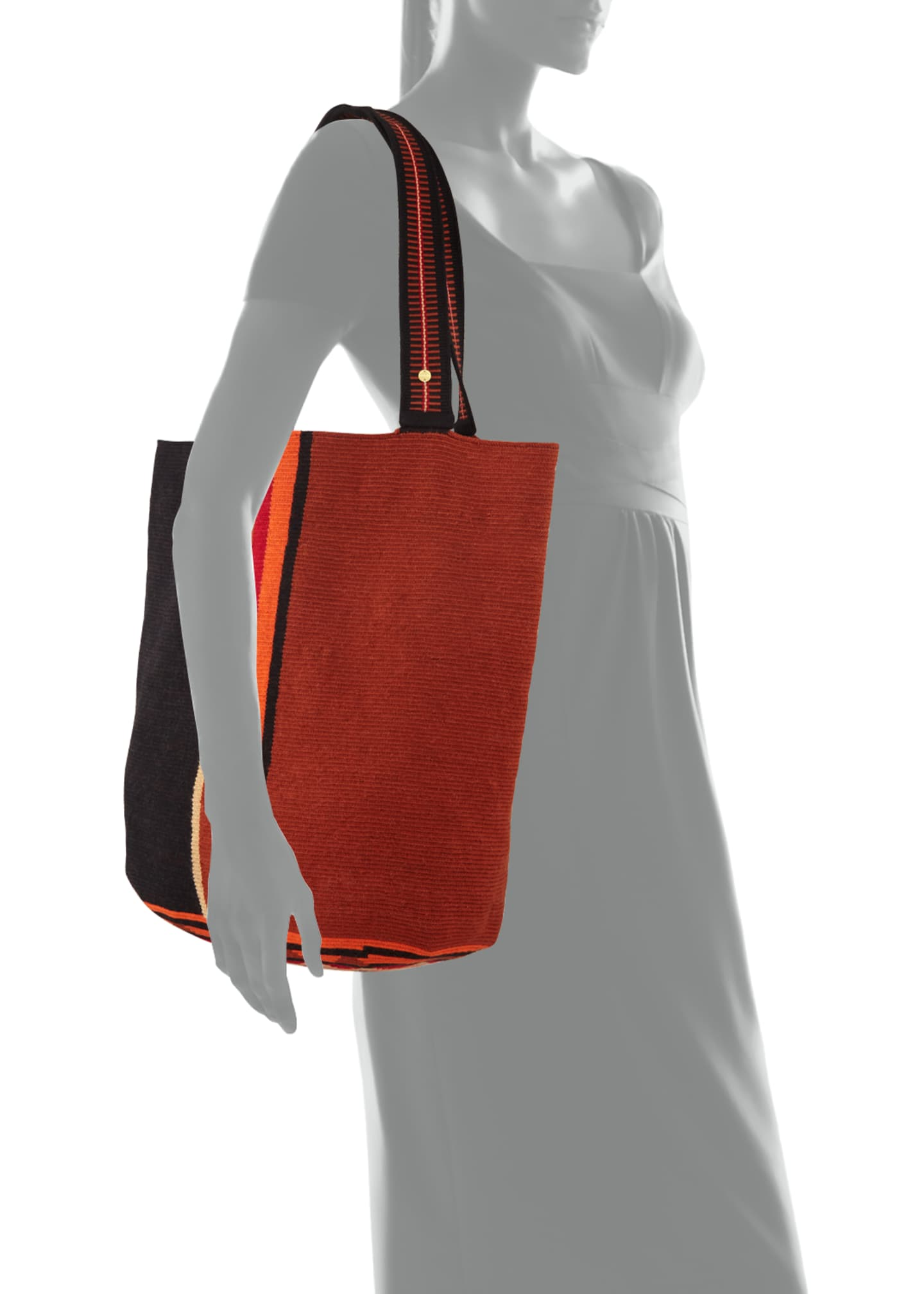 Image 3 of 3: Men's Colorblock Woven Tote Bag