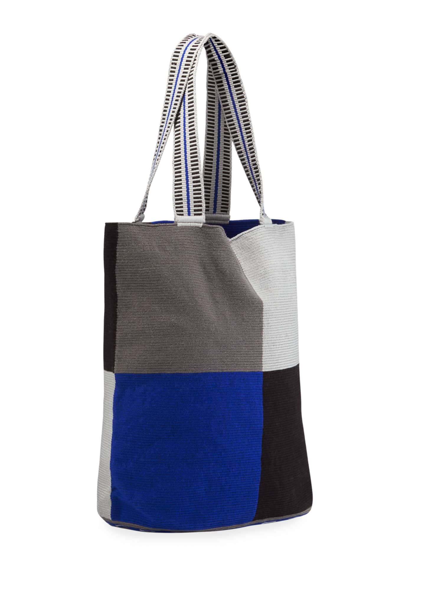 Image 3 of 4: Men's Colorblock Woven Tote Bag