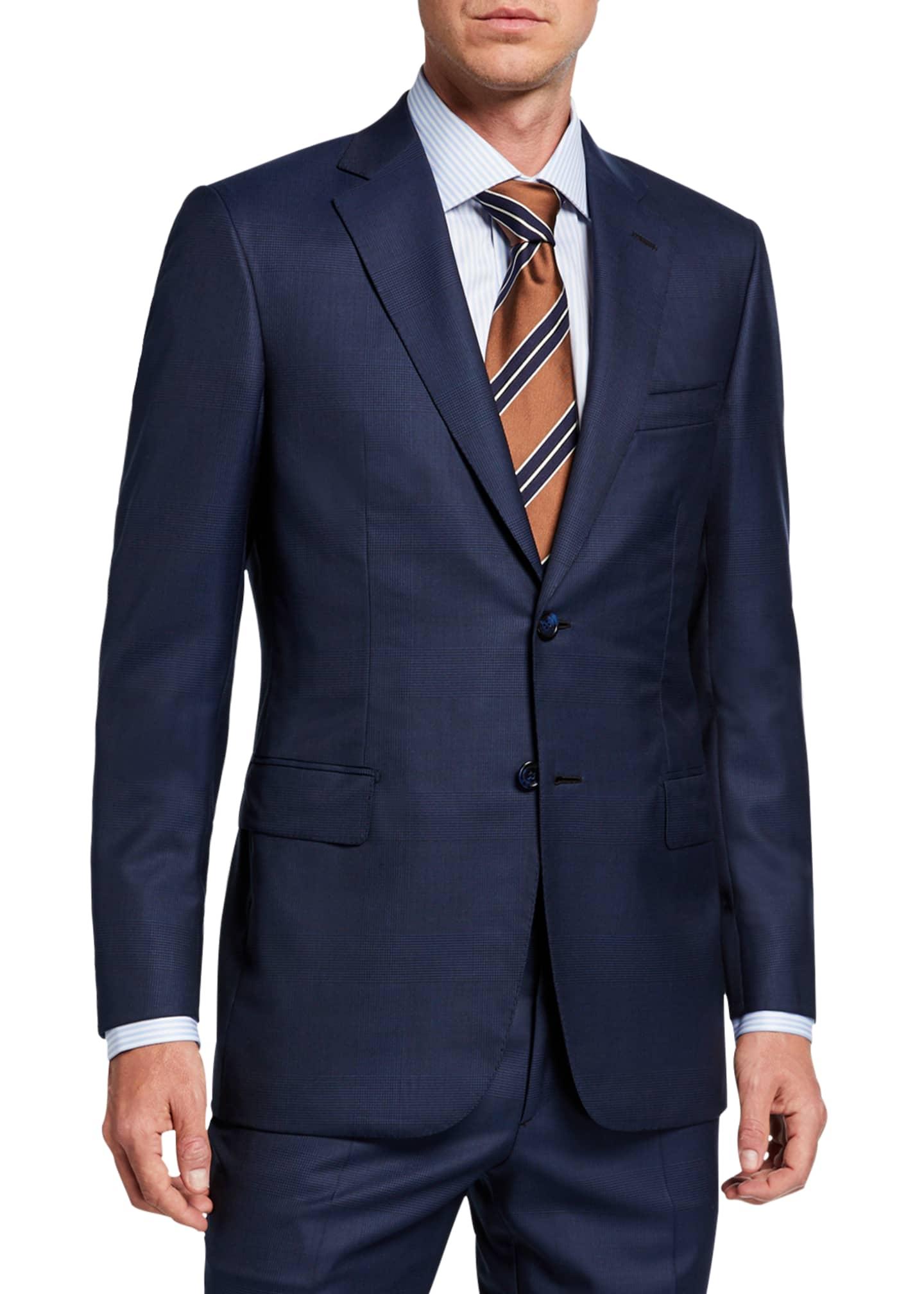 Brioni Men's Tonal Plaid Two-Piece Suit