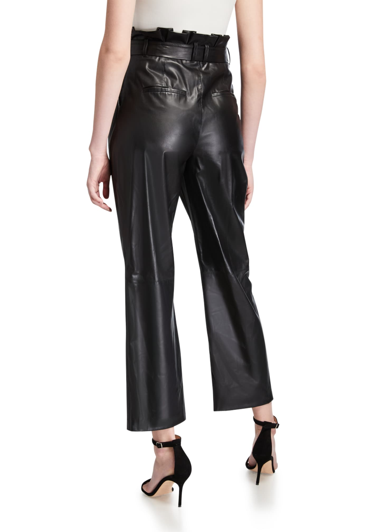 Image 2 of 3: Ryan Leather Paperbag Ankle Pants