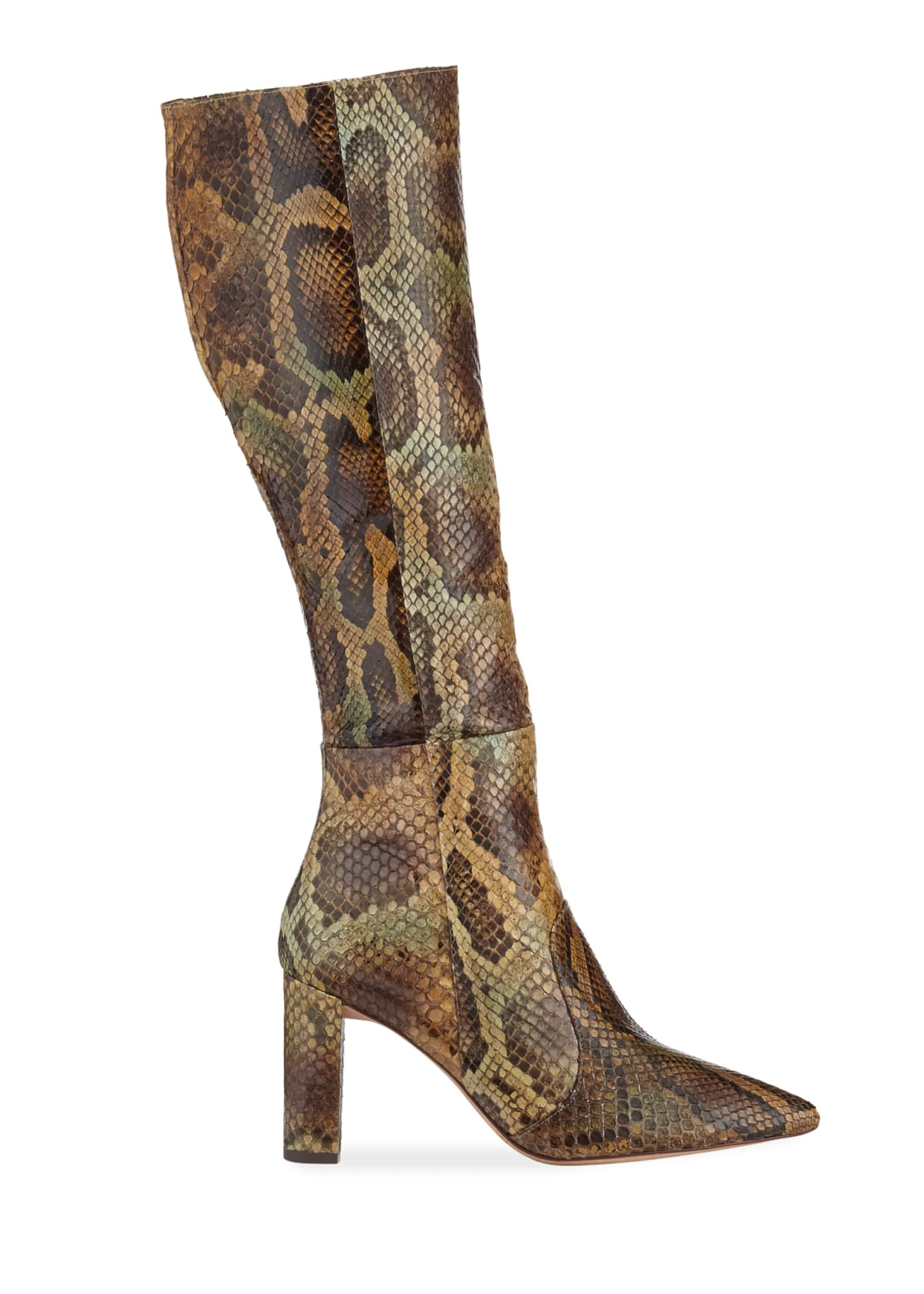 Image 2 of 3: Elisa Exotic Knee Boots