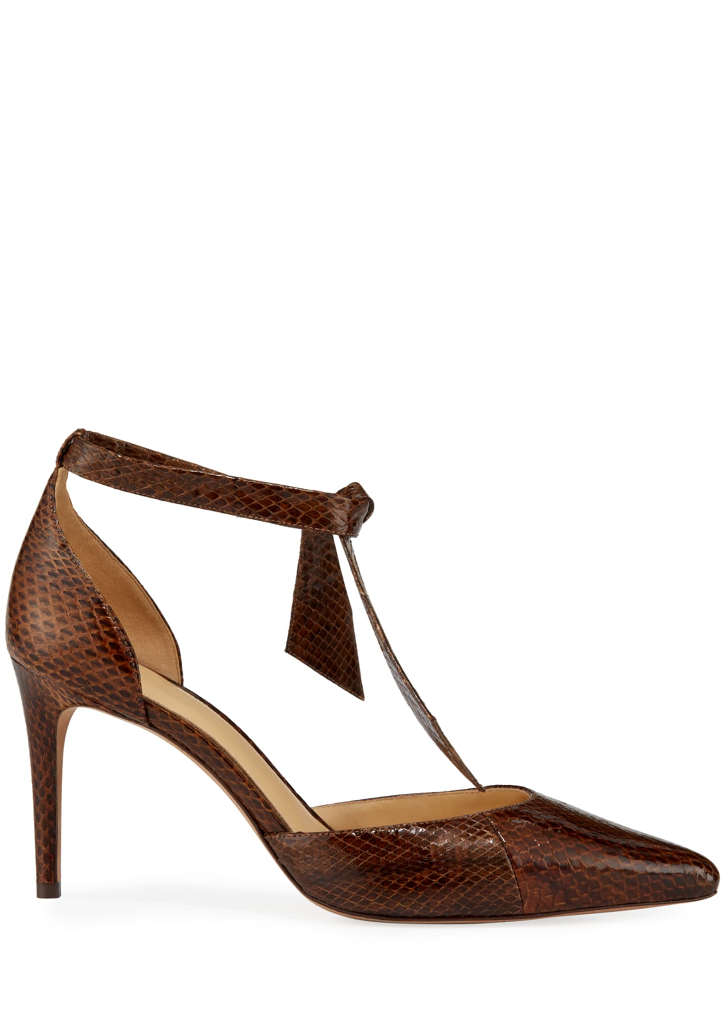 Image 2 of 3: New Clarita Snakeskin Pumps