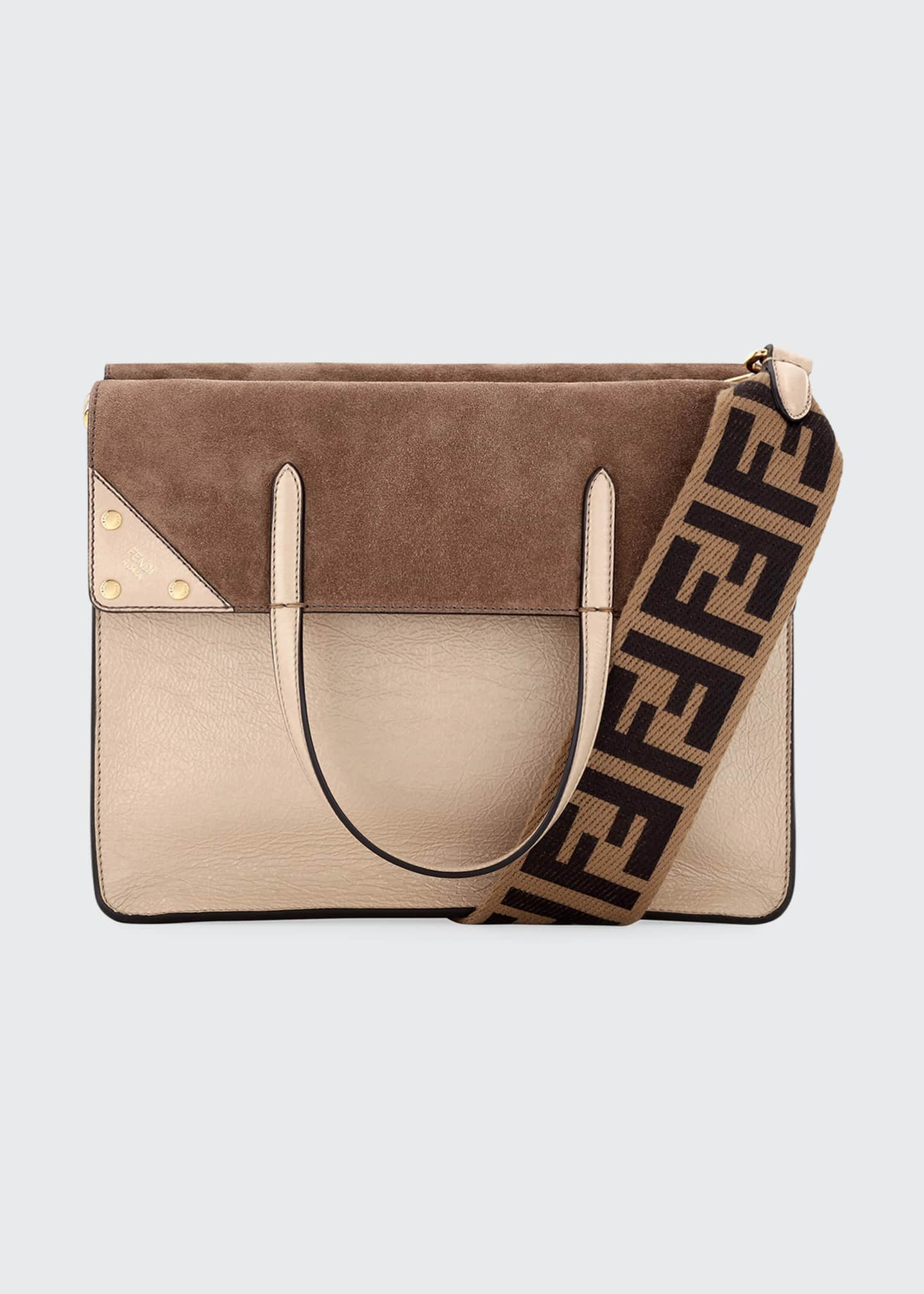 Fendi Grace Calf Matte Flip Tote Bag