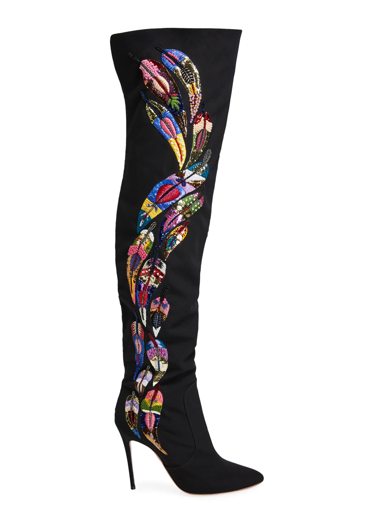 Image 2 of 4: Mina Embellished Over-The-Knee Boots