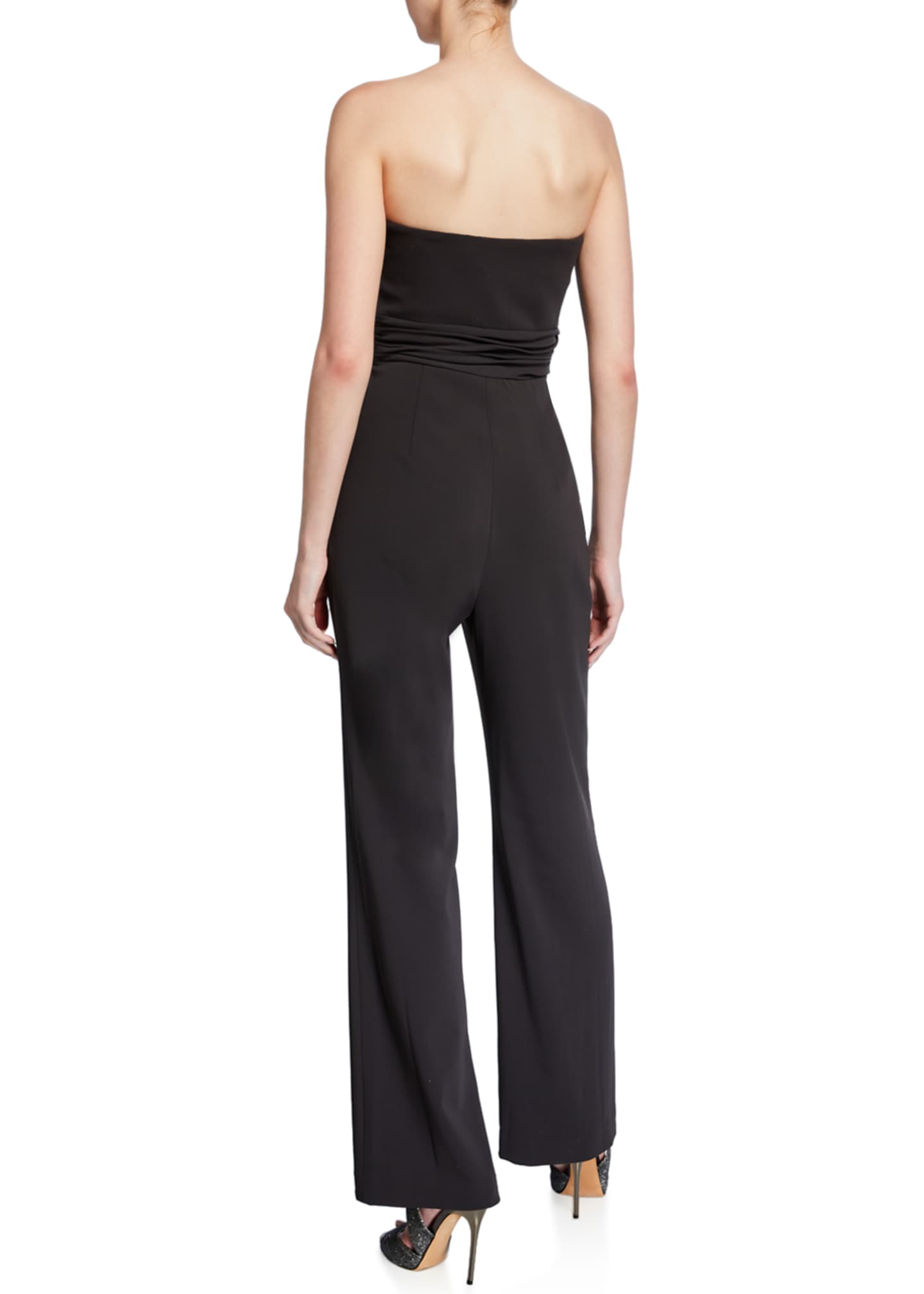 Image 2 of 2: Strapless Bow-Front Crepe Jumpsuit