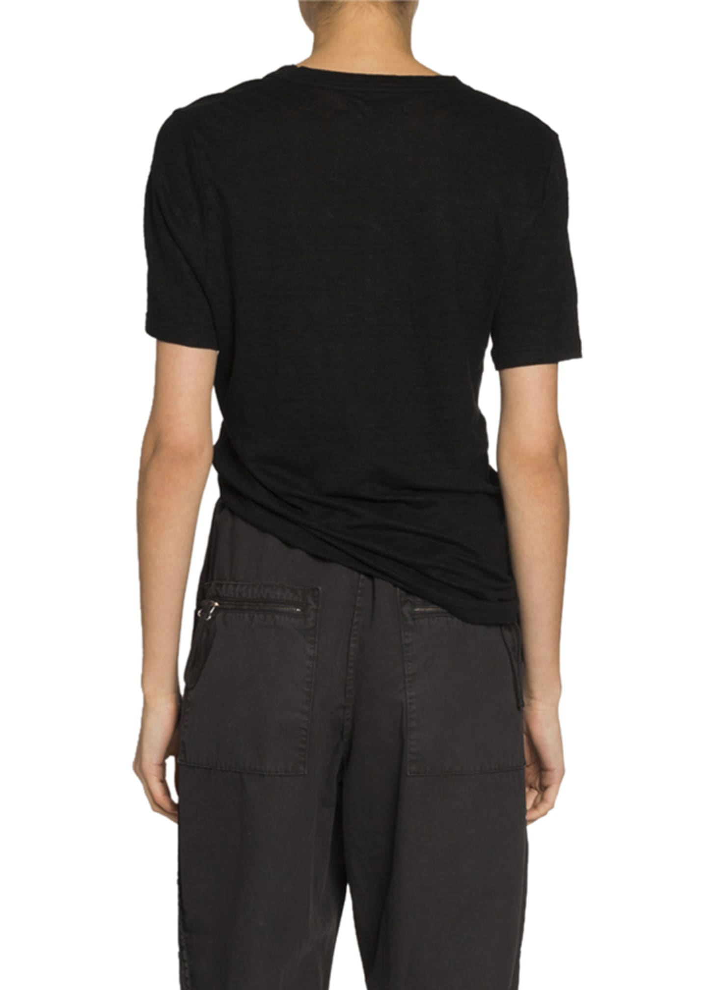 Image 2 of 3: Kranger Linen V-Neck Tee