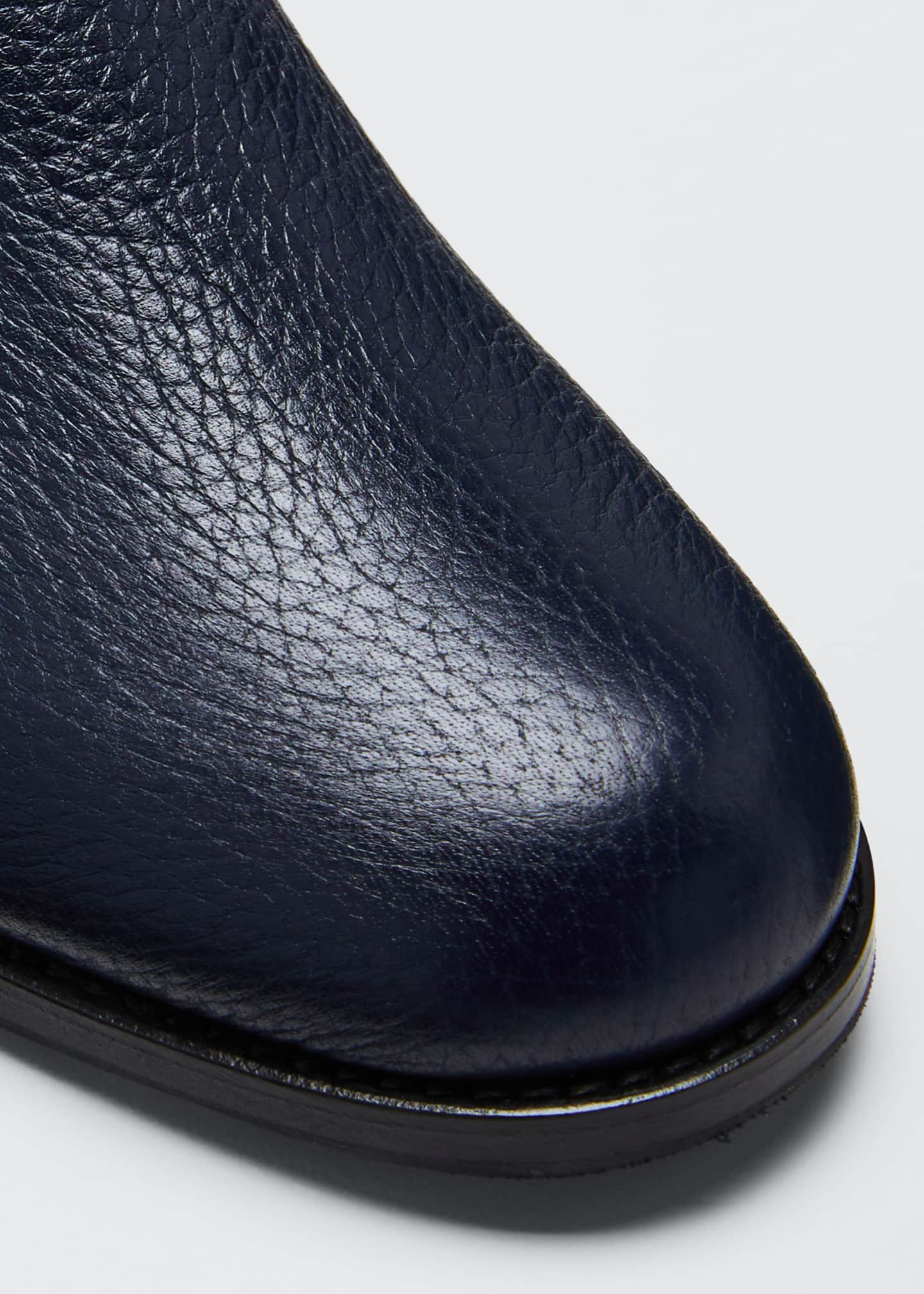 Image 4 of 4: Chelsea Leather Gored Booties